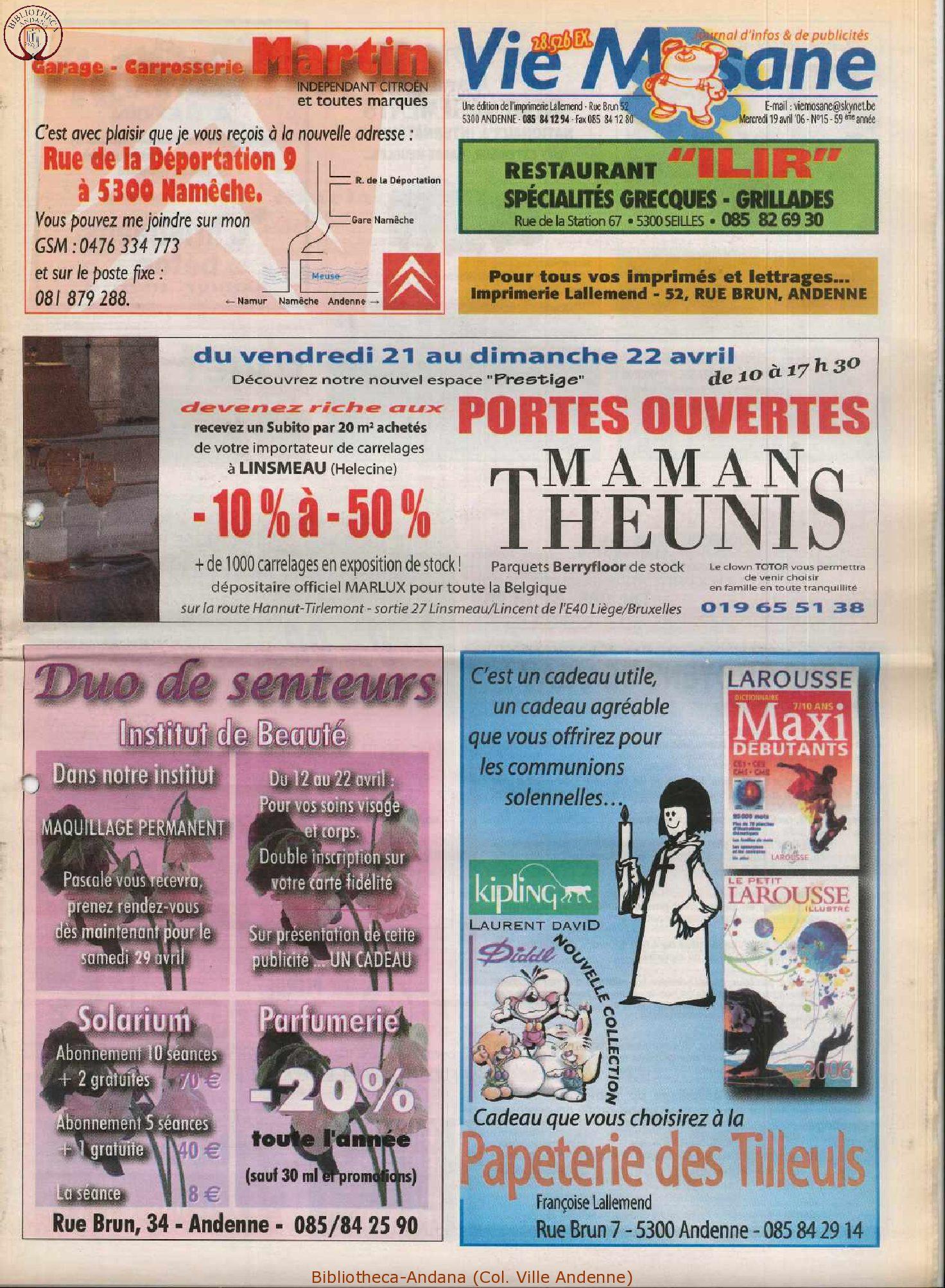 59e année - n°15 - 19 avril 2006