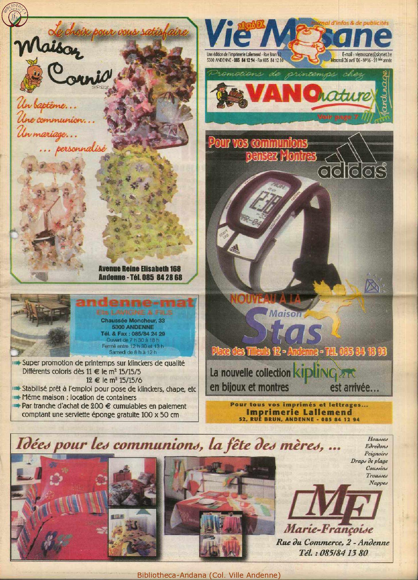 59e année - n°16 - 26 avril 2006