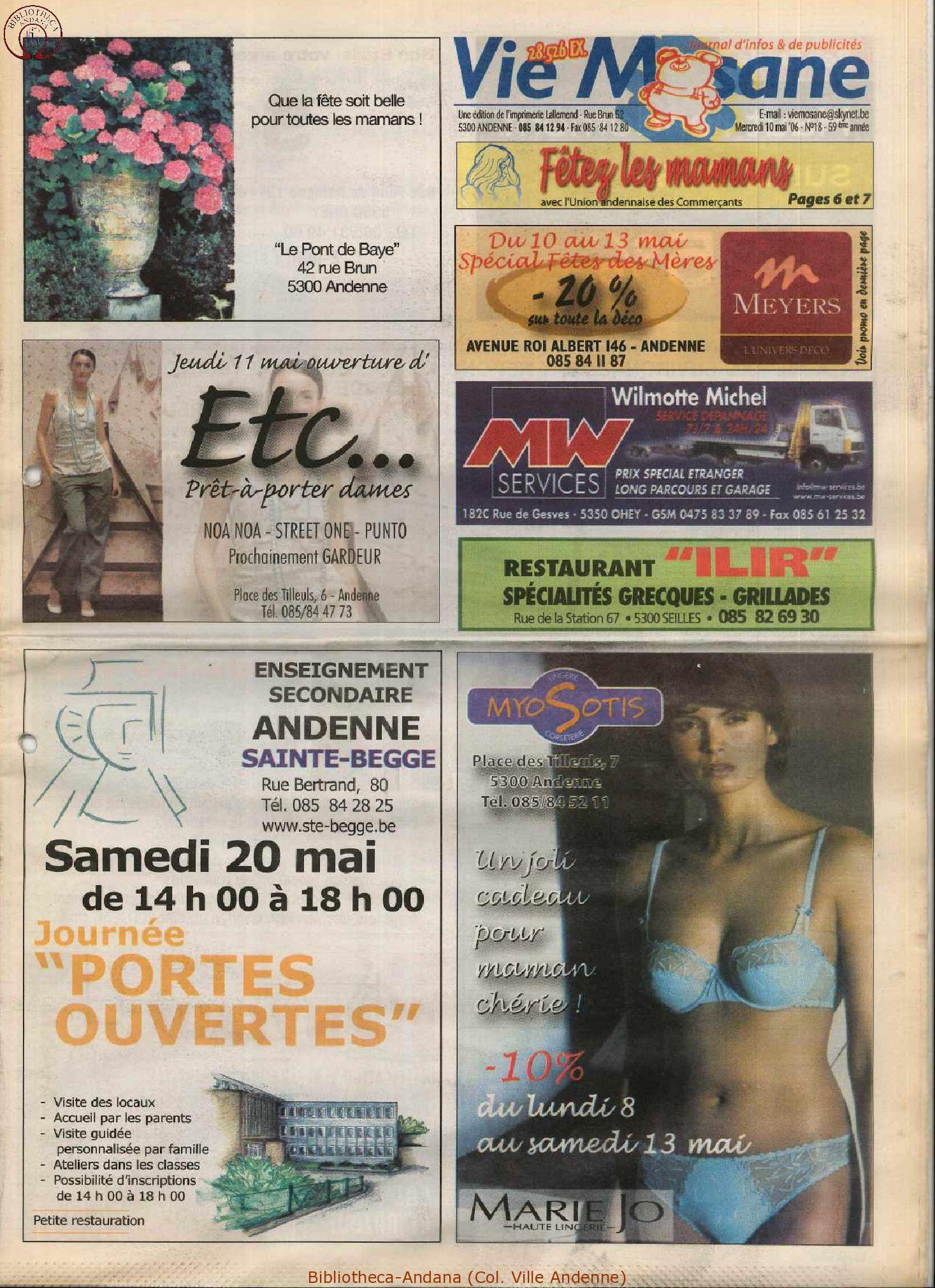 59e année - n°18 - 10 mai 2006