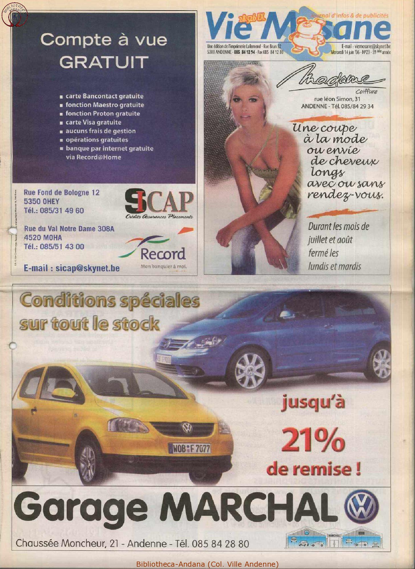 59e année - n°23 - 14 juin 2006