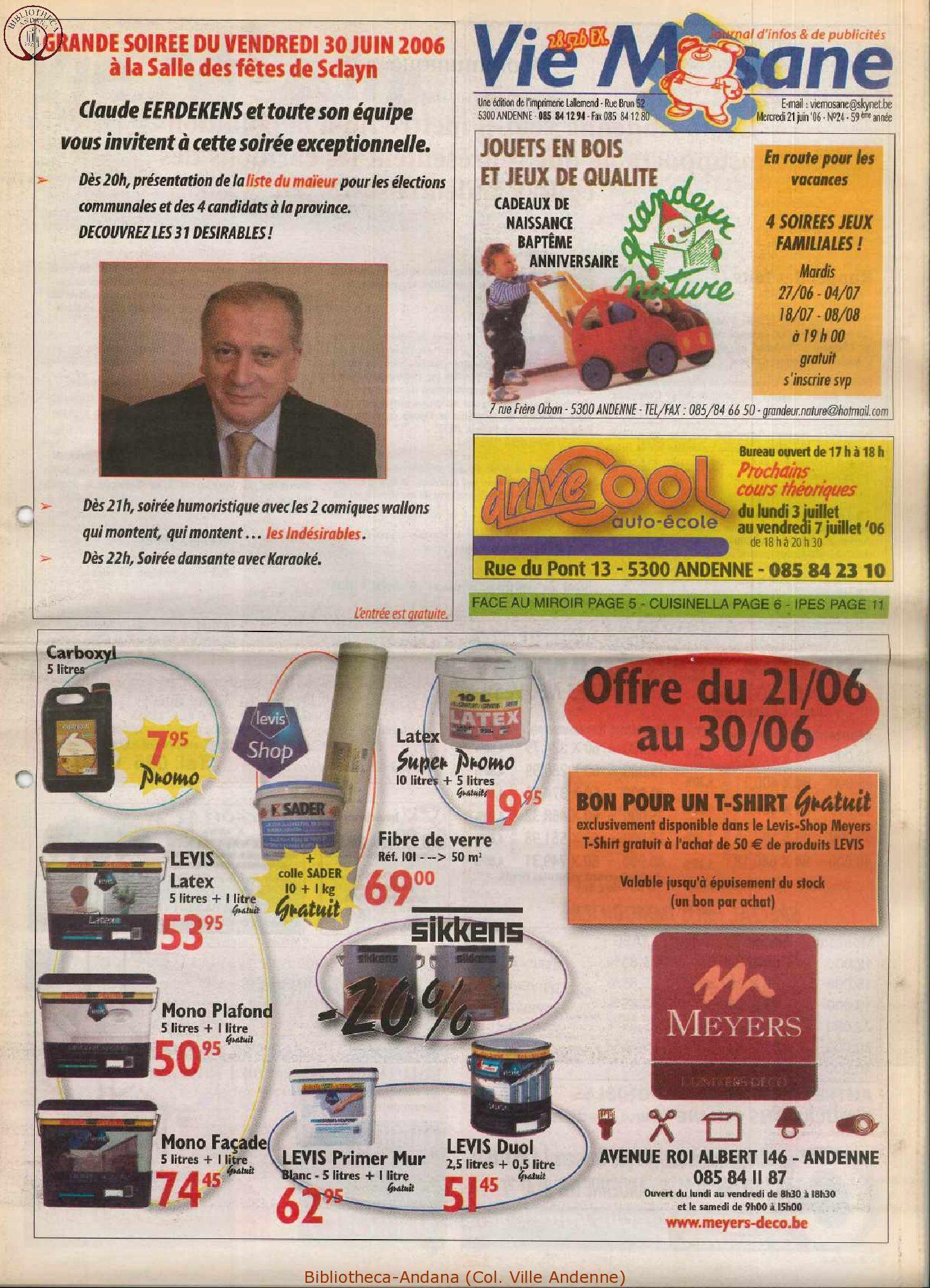 59e année - n°24 - 21 juin 2006