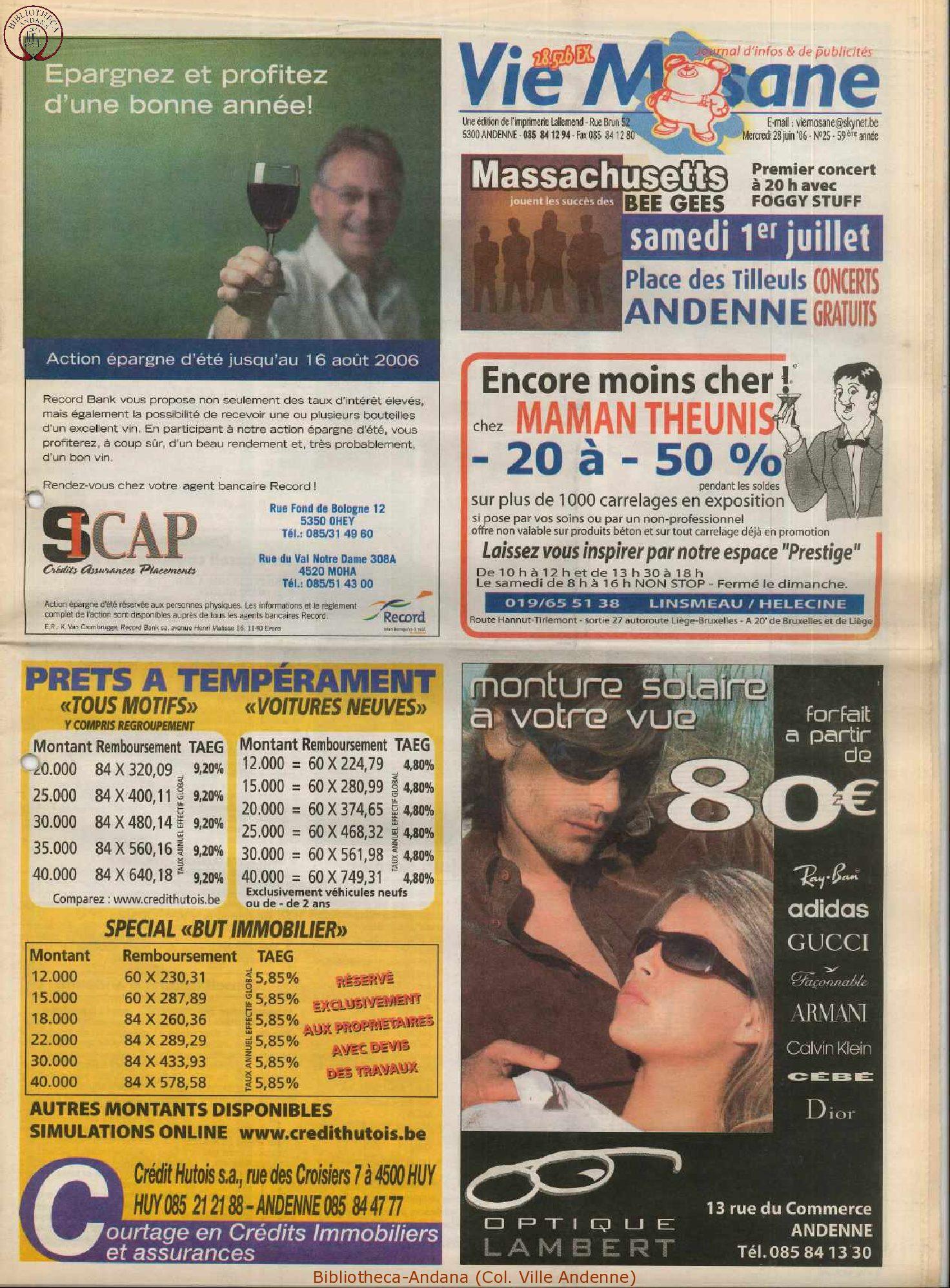 59e année - n°25 - 28 juin 2006