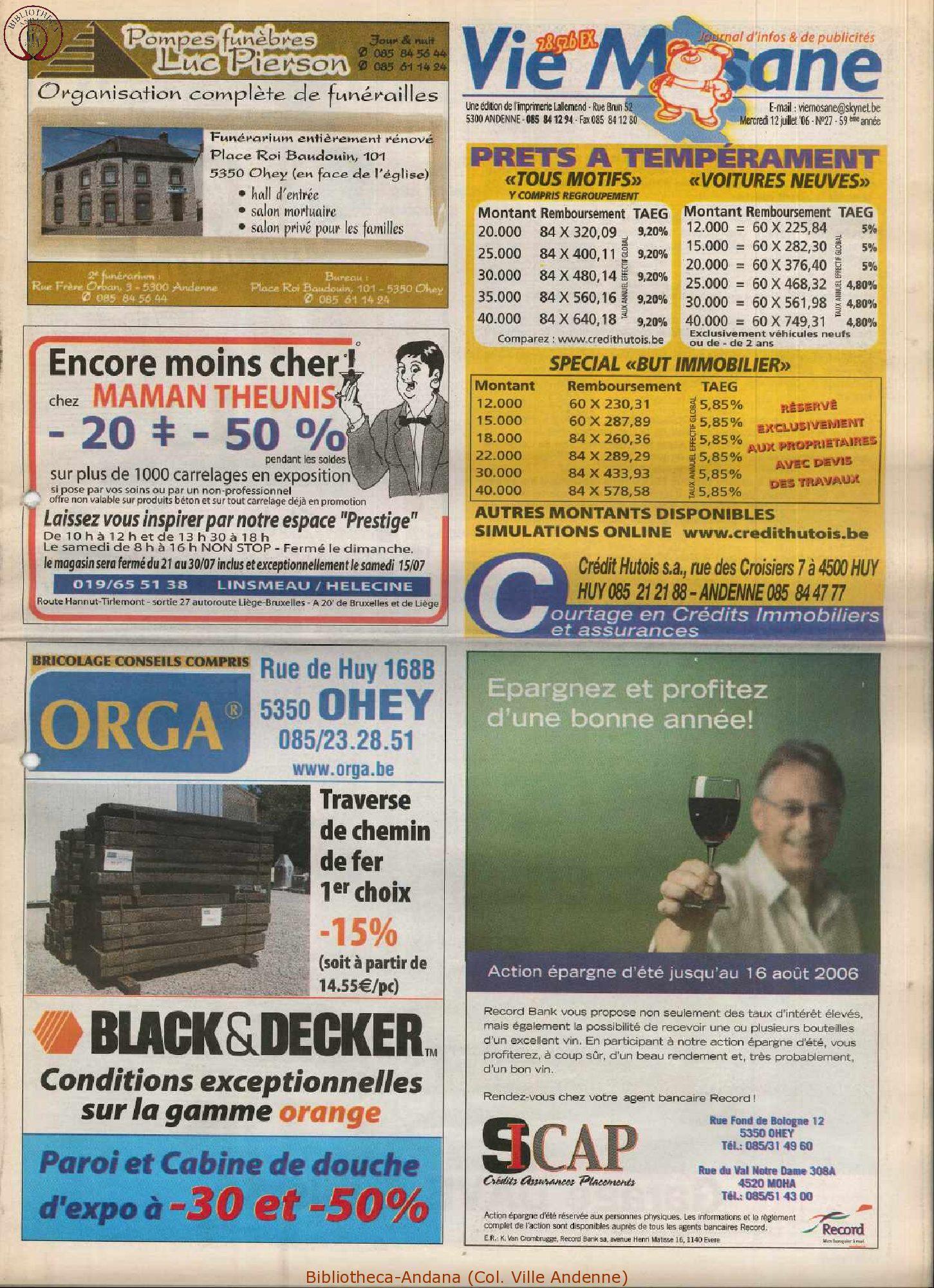 59e année - n°27 - 12 juillet 2006