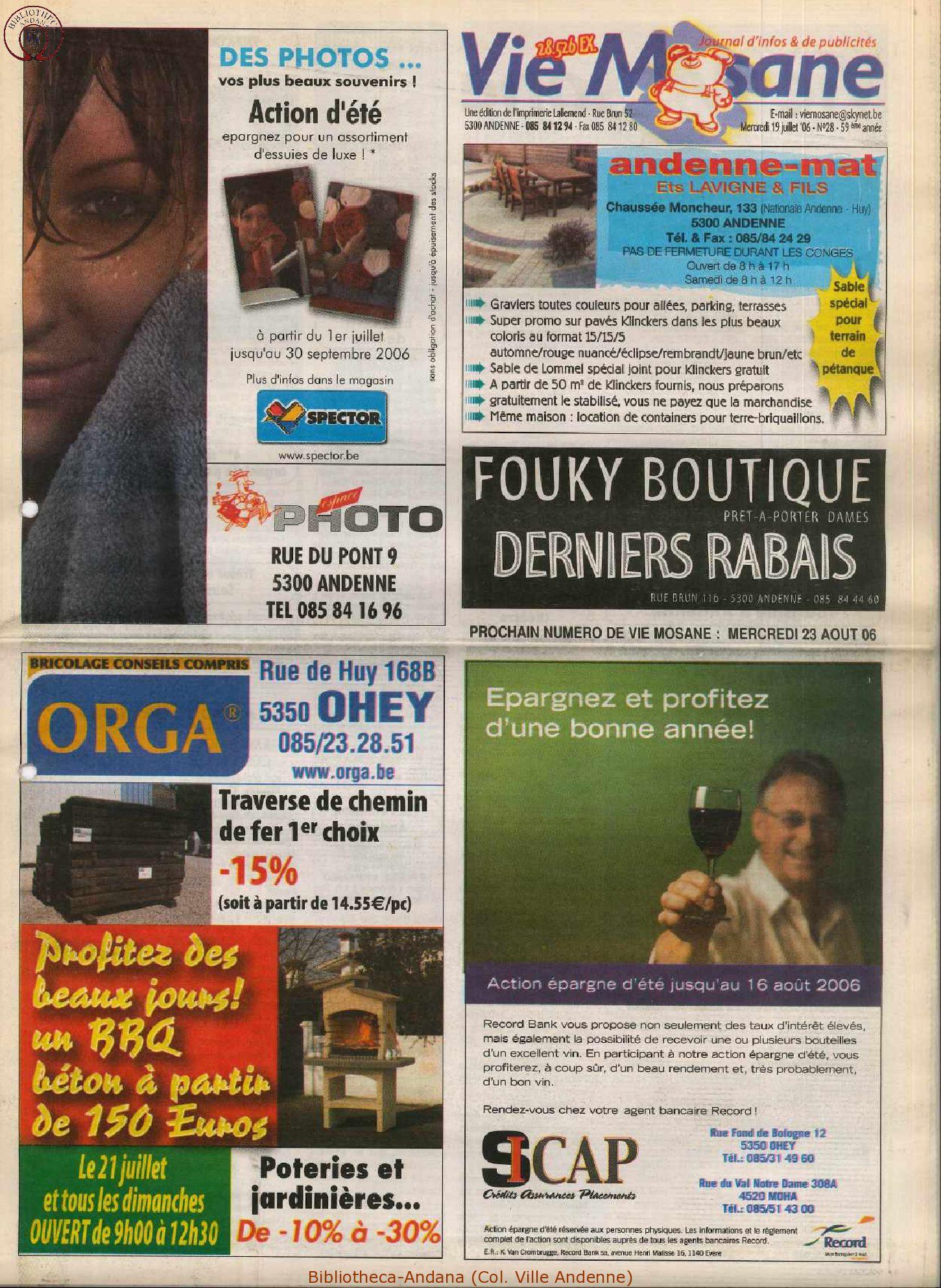 59e année - n°28 - 19 juillet 2006