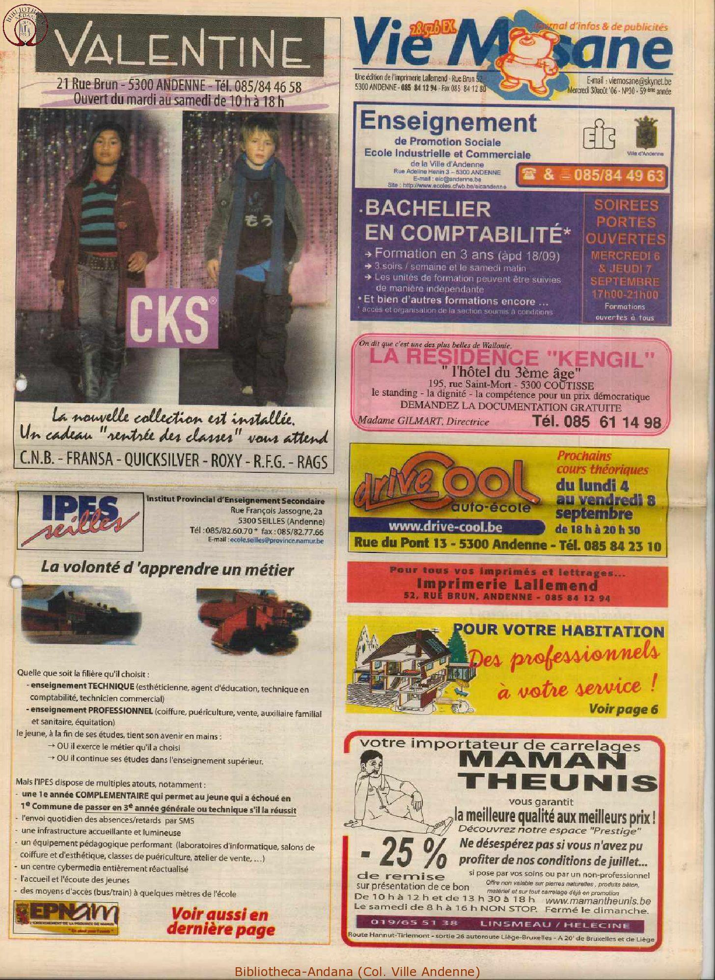 59e année - n°30 - 30 août 2006