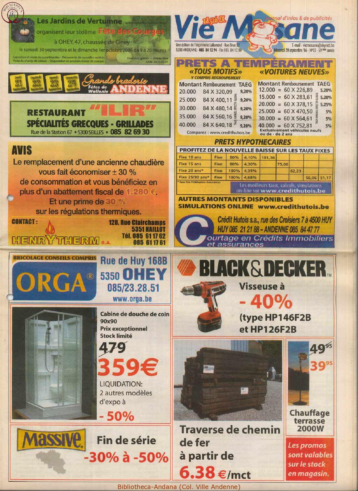 59e année - n°33 - 20 septembre 2006