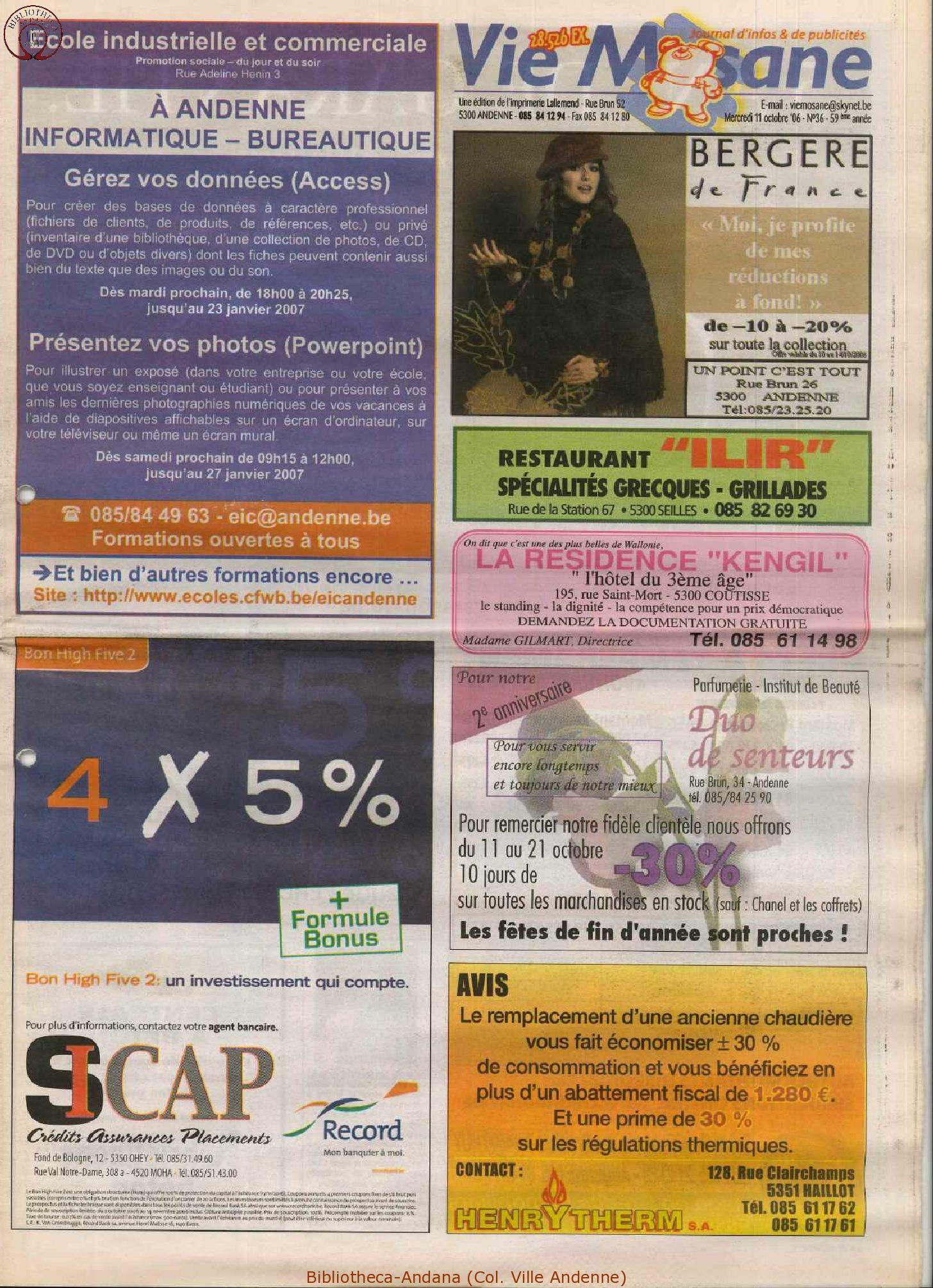 59e année - n°36 - 11 octobre 2006