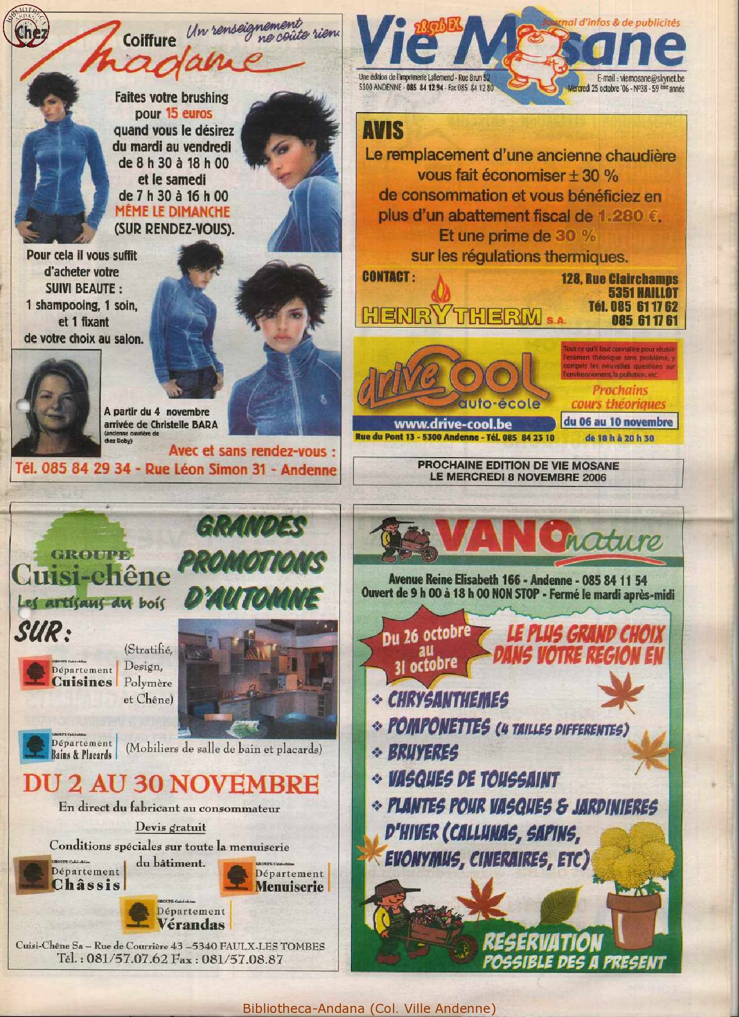 59e année - n°38 - 25 octobre 2006