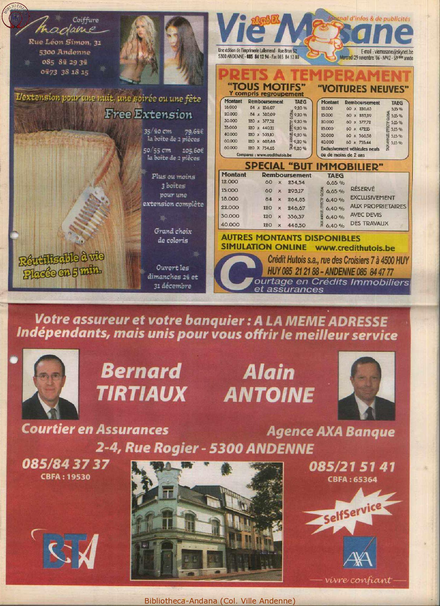 59e année - n°42 - 29 novembre 2006