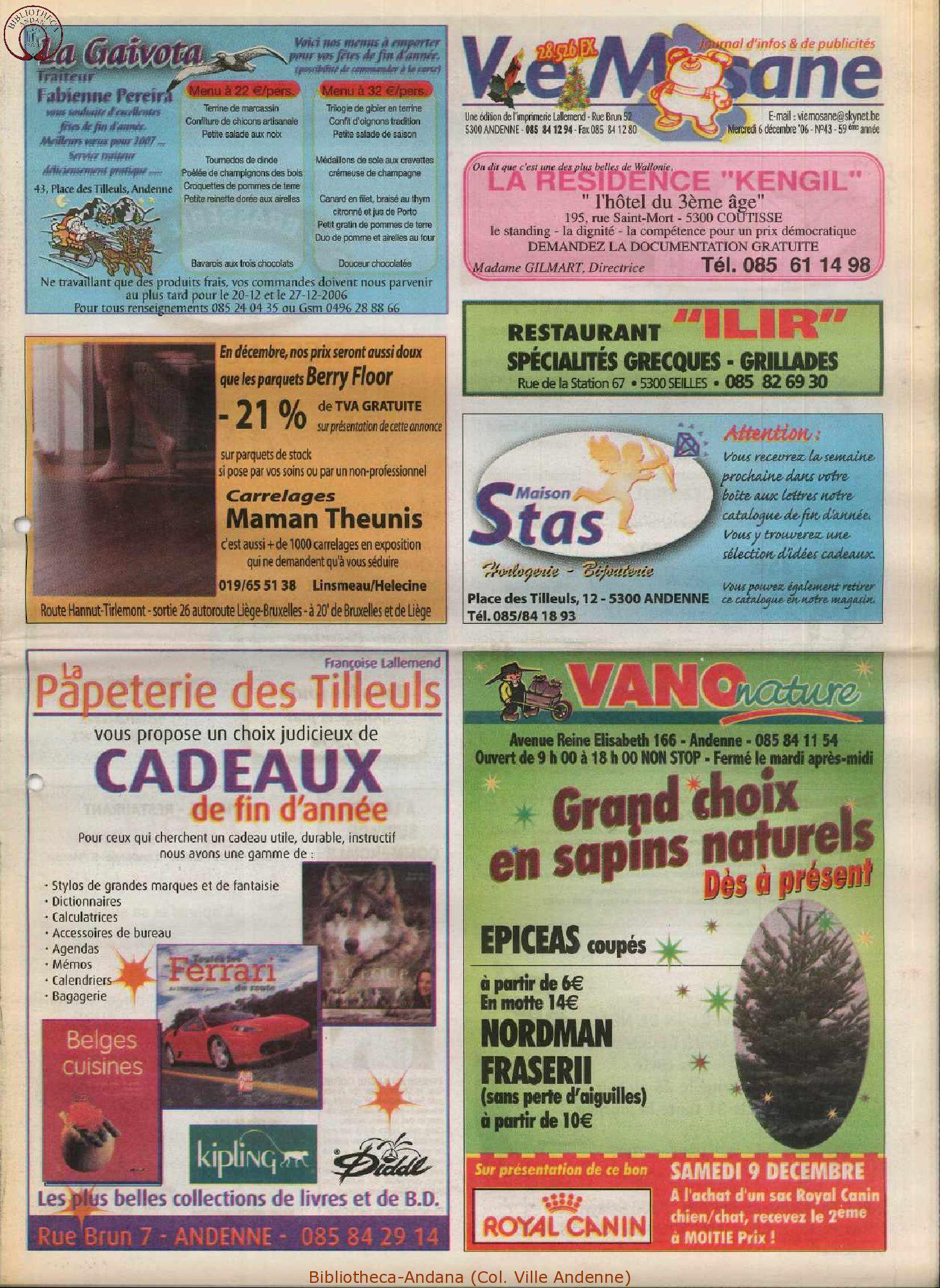 59e année - n°43 - 6 décembre 2006