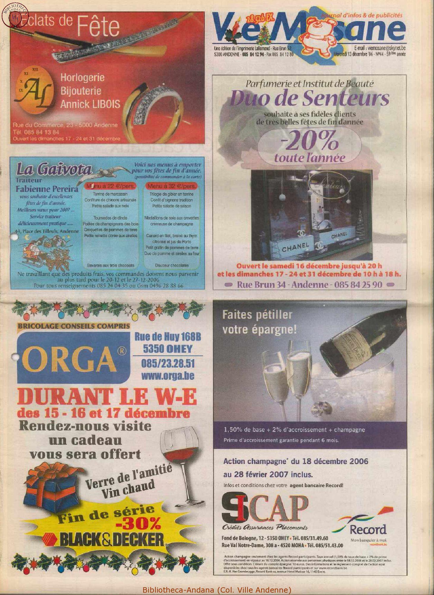 59e année - n°44 - 13 décembre 2006