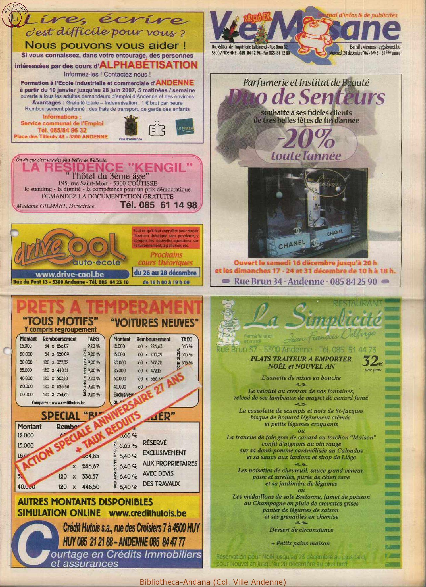 59e année - n°45 - 20 décembre 2006