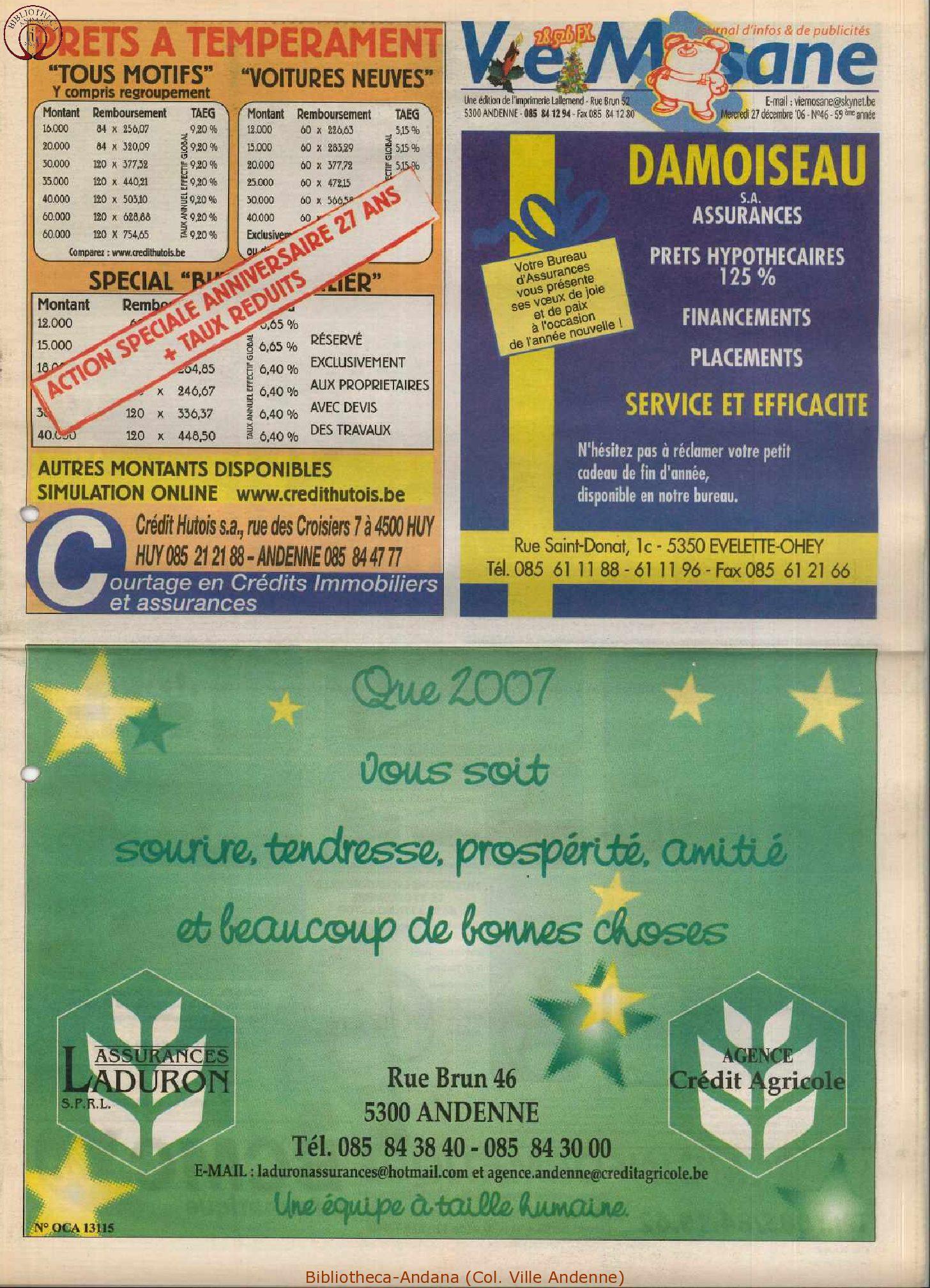 59e année - n°46 - 27 décembre 2006