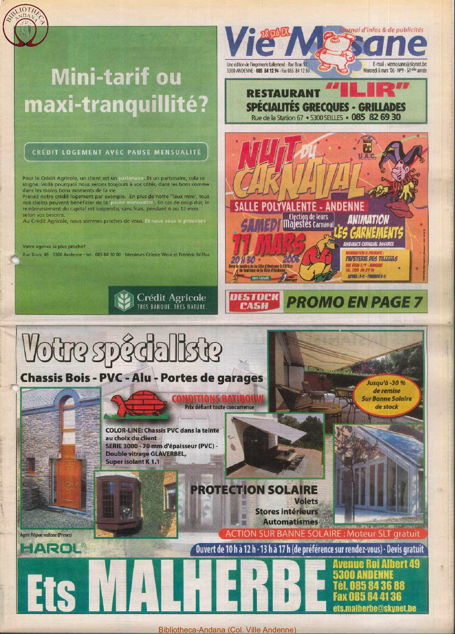 59e année - n°9 - 8 mars 2006