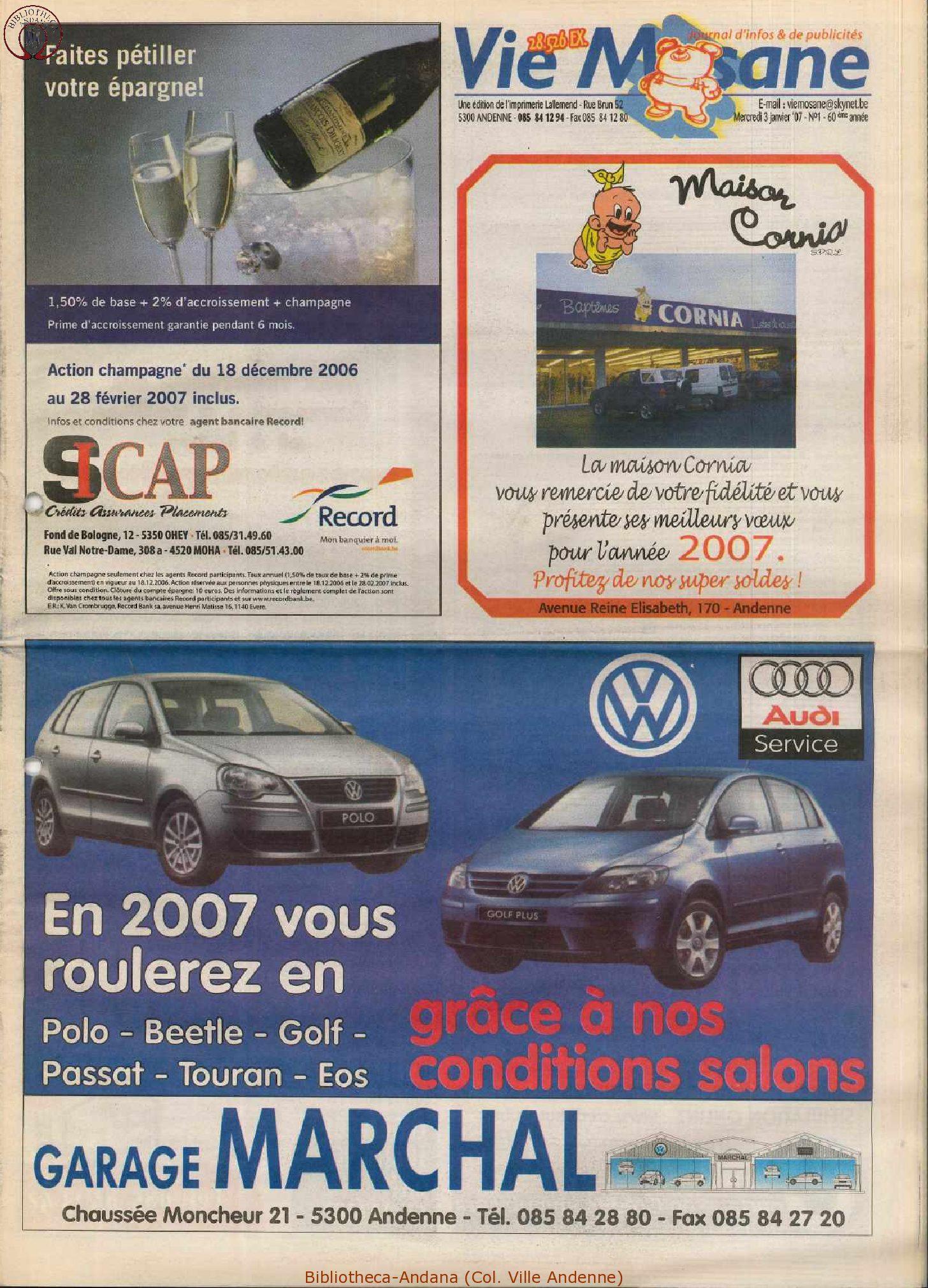 60e année - n°1 - 3 janvier 2007