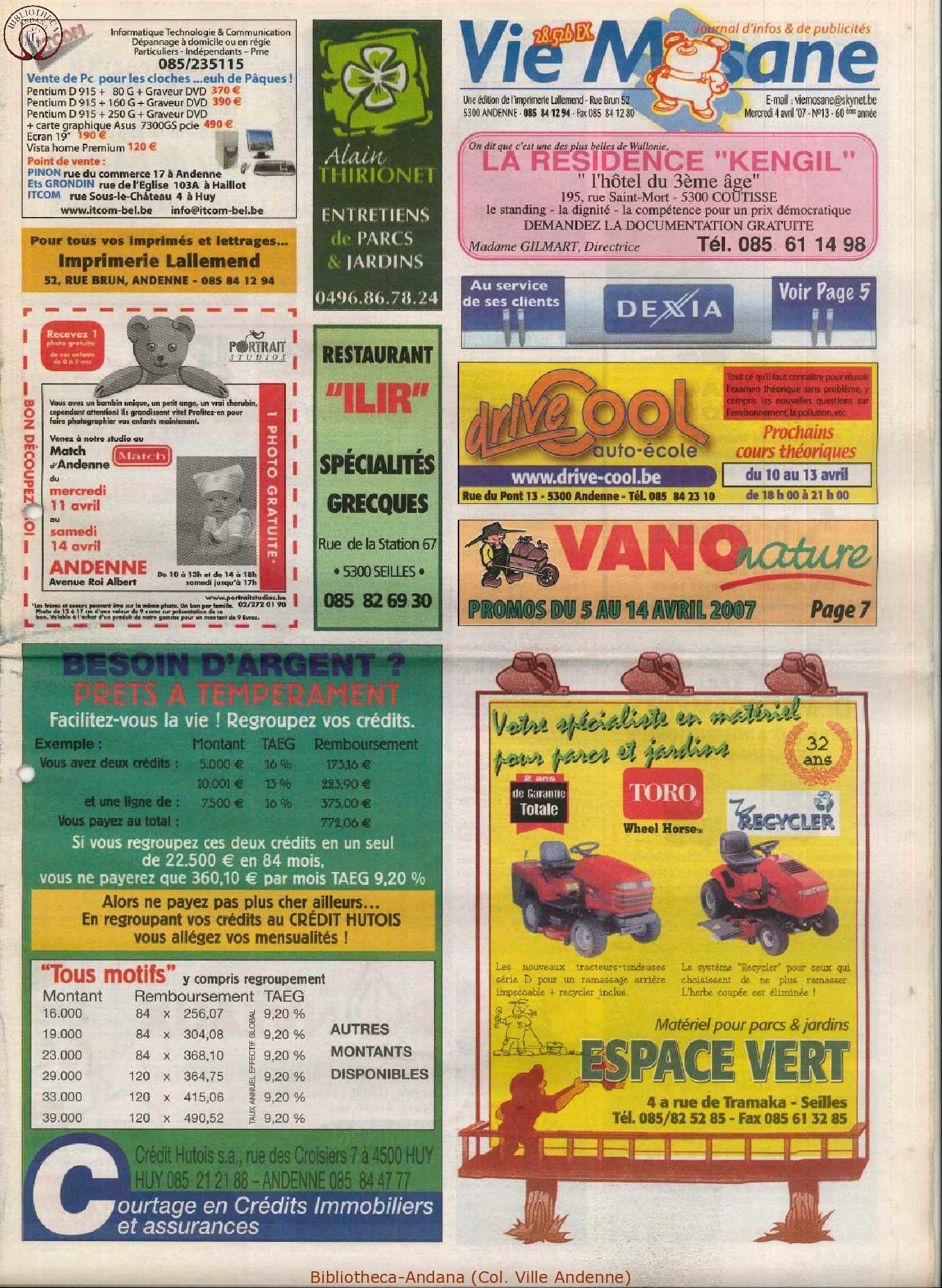 60e année - n°13 - 4 avril 2007