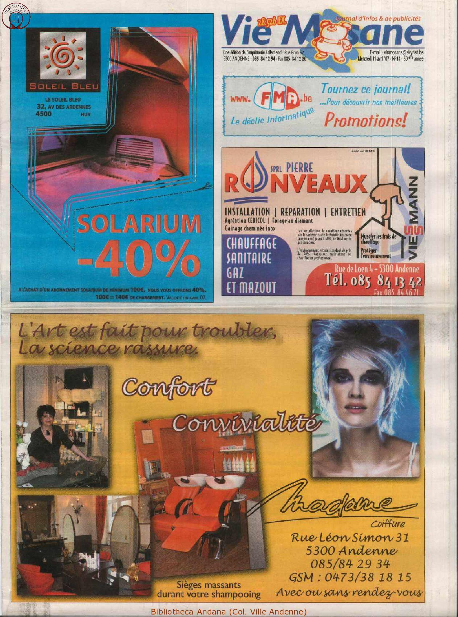60e année - n°14 - 11 avril 2007