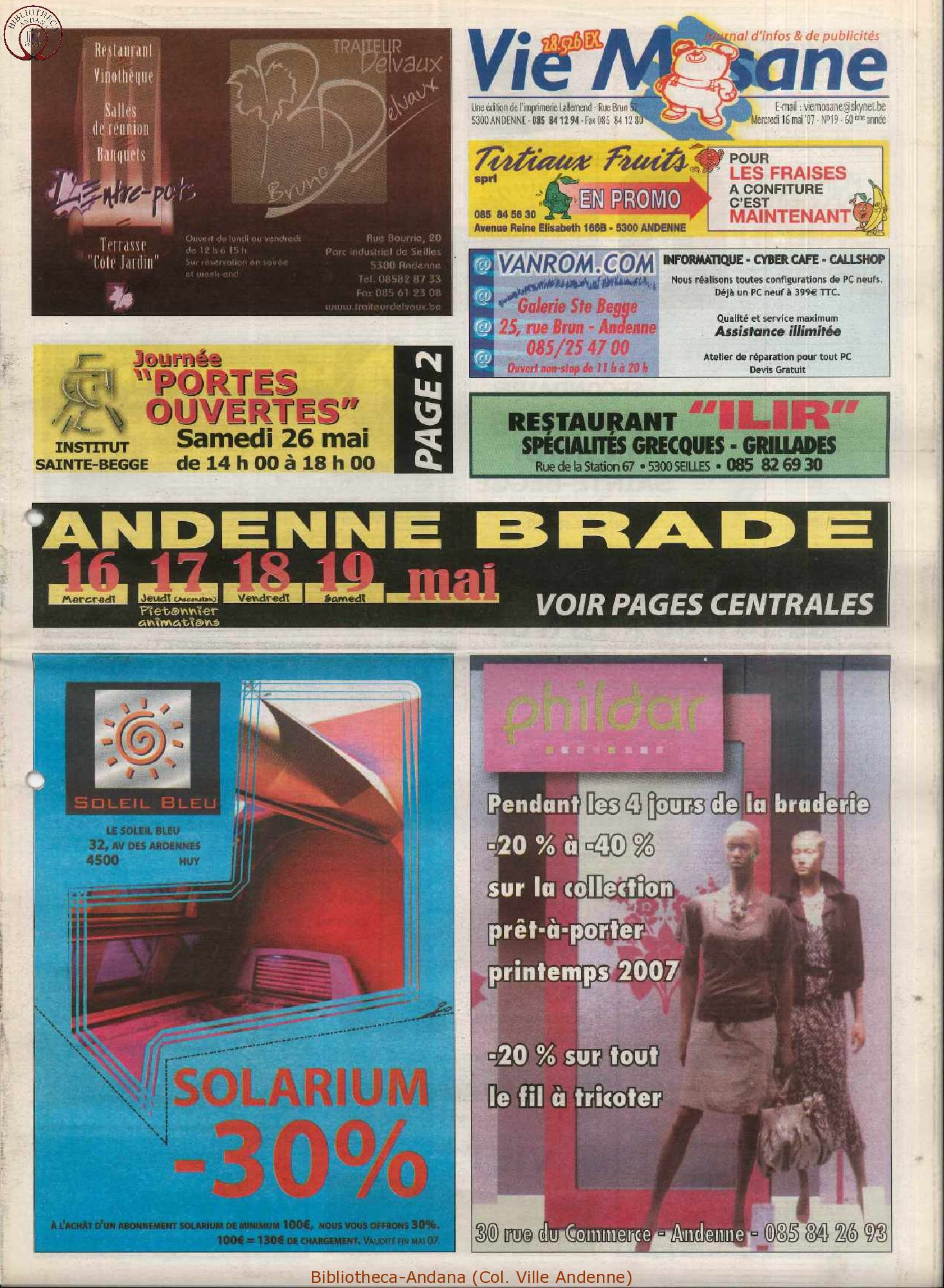 60e année - n°19 - 16 mai 2007
