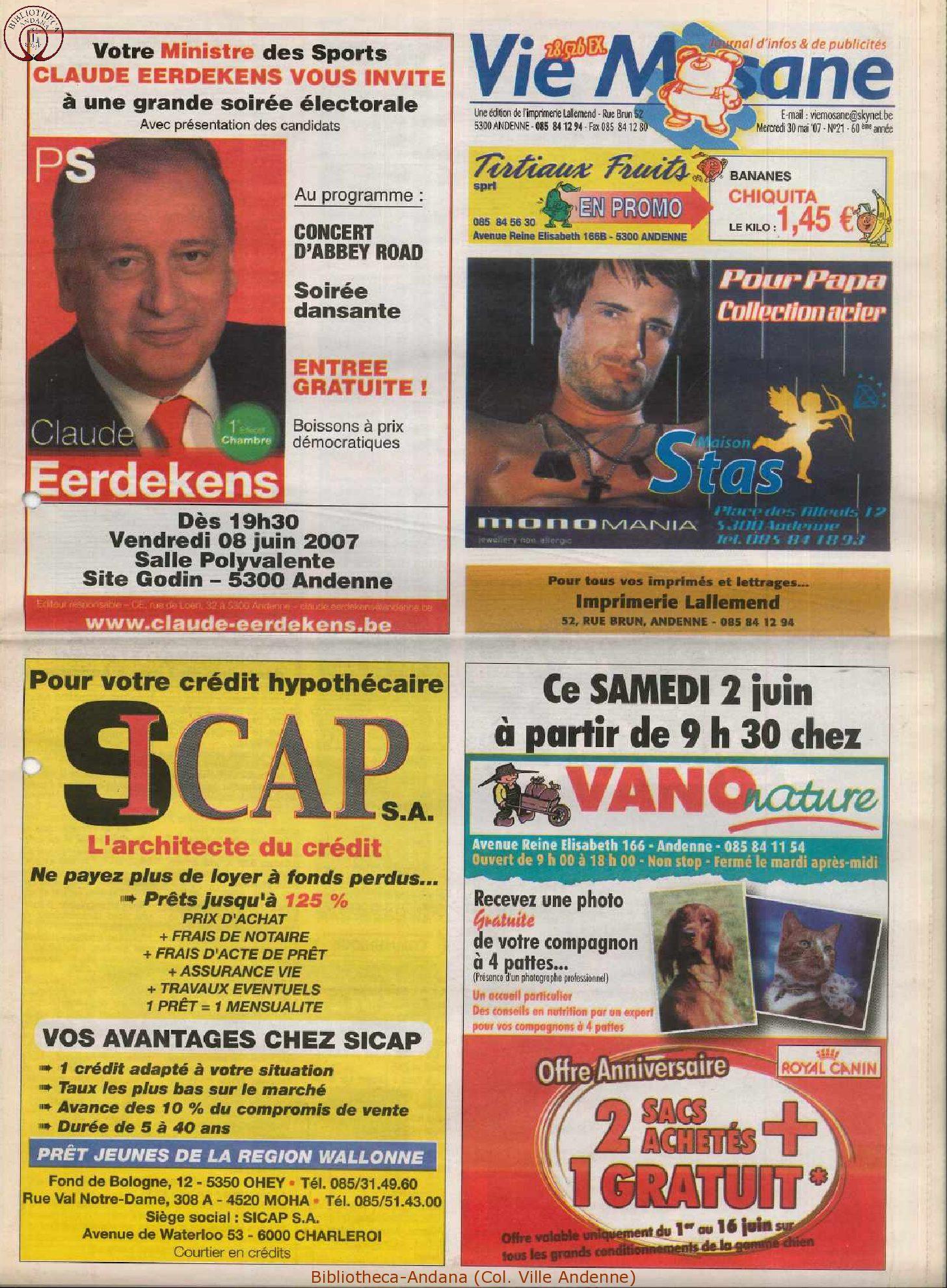 60e année - n°21 - 30 mai 2007