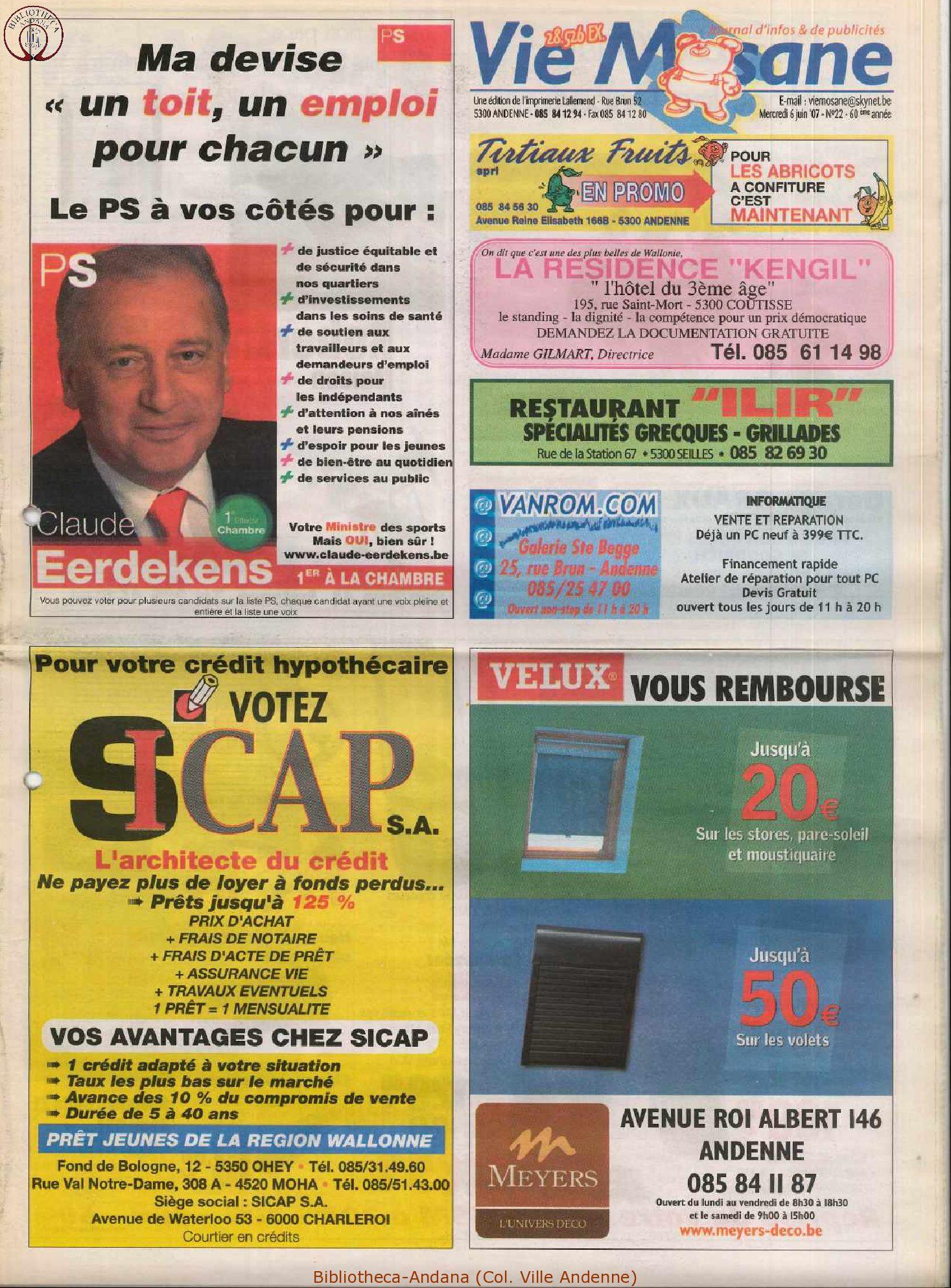 60e année - n°22 - 6 juin 2007