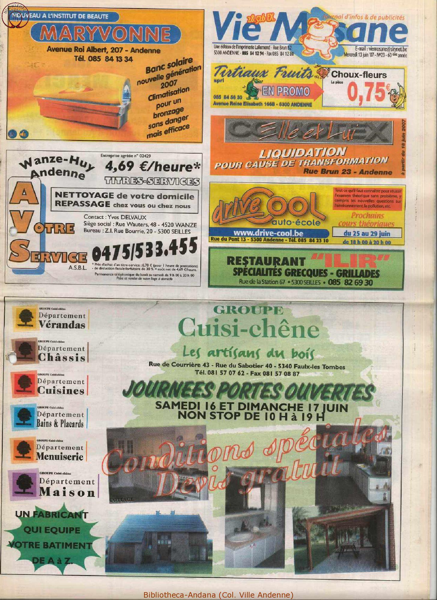 60e année - n°23 - 13 juin 2007