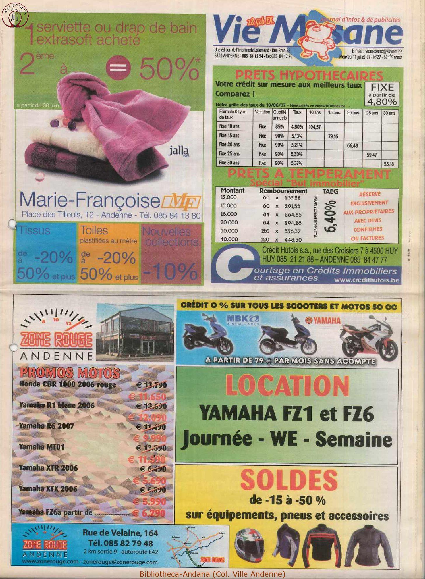 60e année - n°27 - 11 juillet 2007