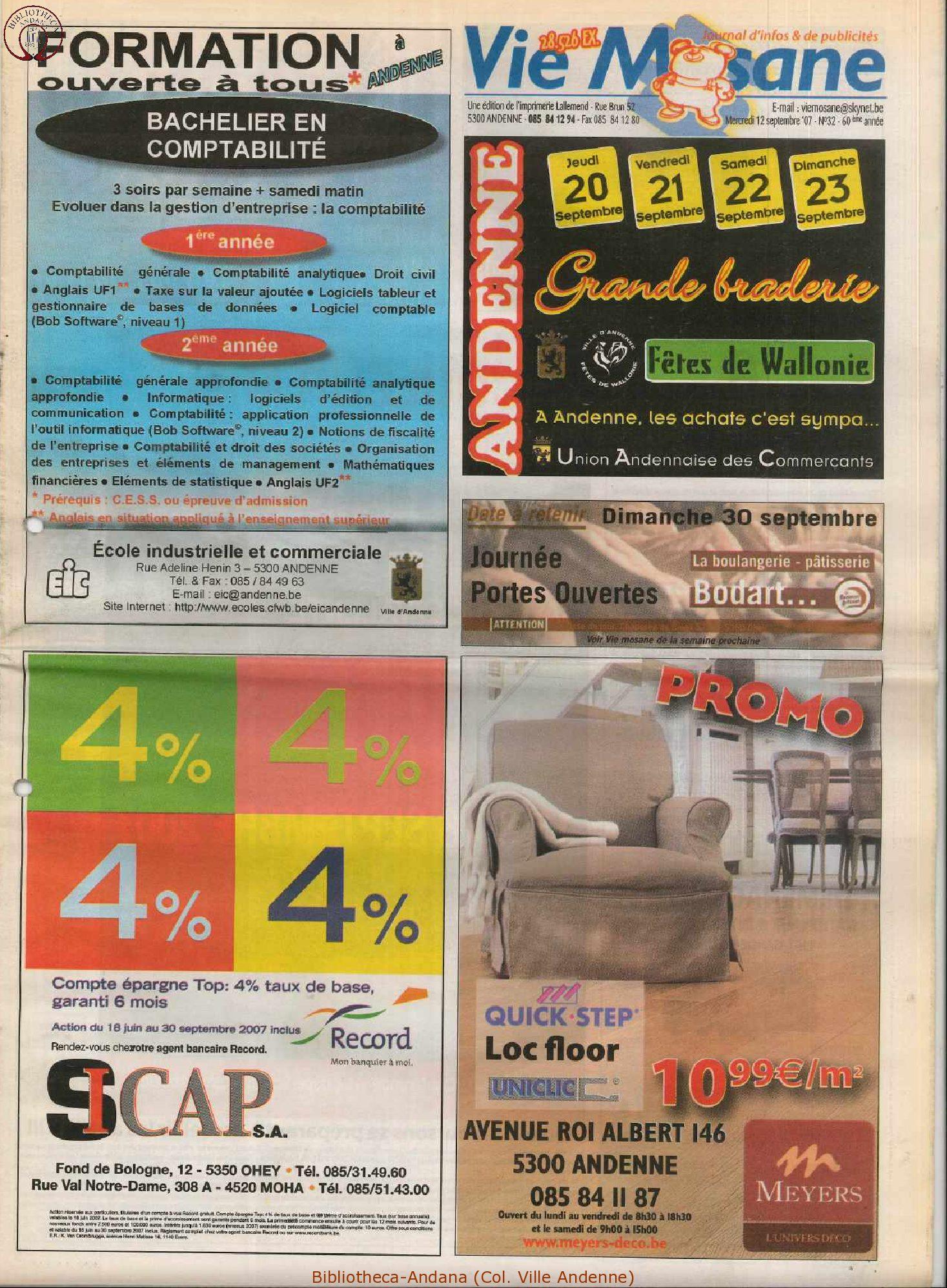 60e année - n°32 - 12 septembre 2007