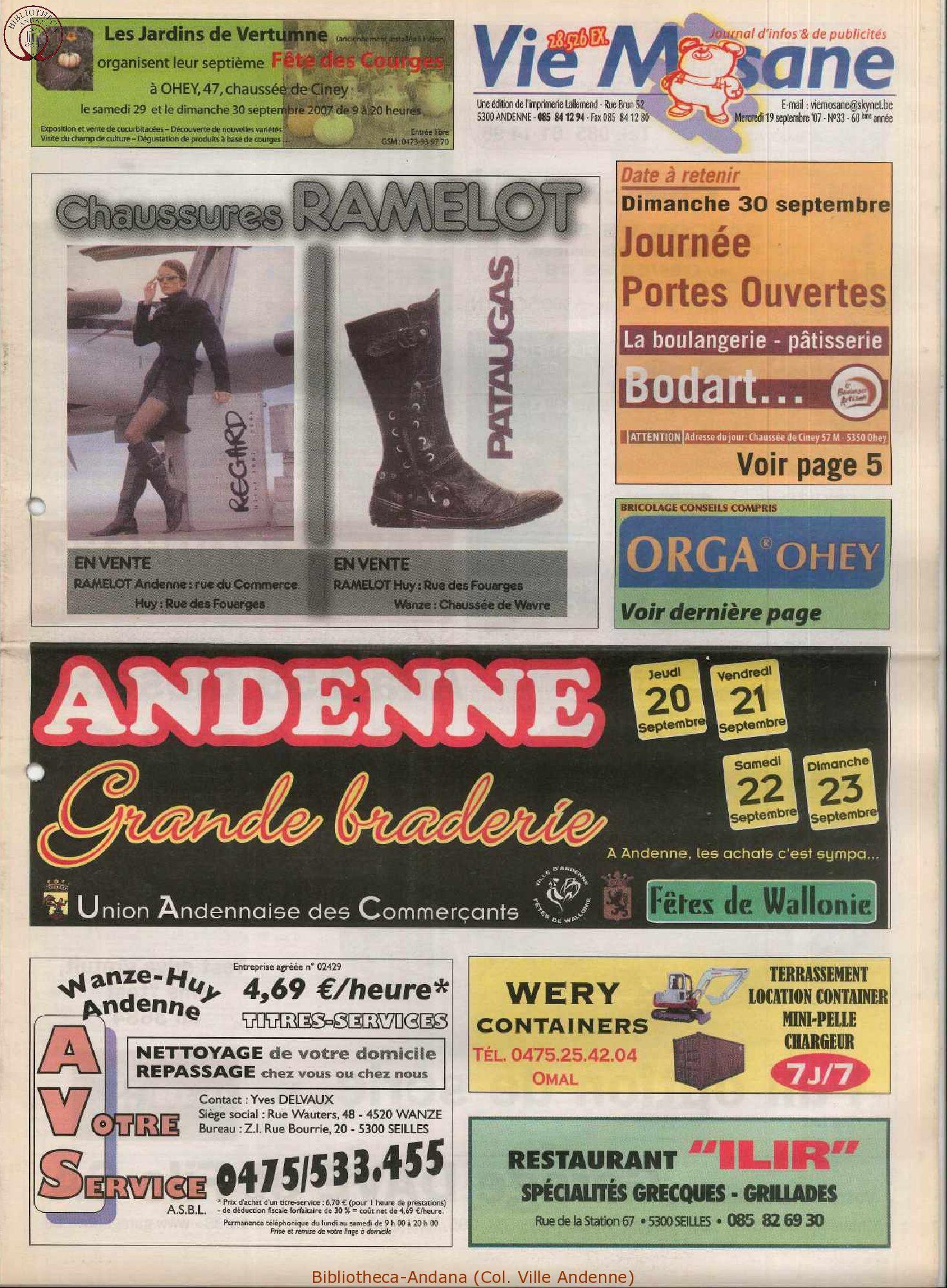 60e année - n°33 - 19 septembre 2007