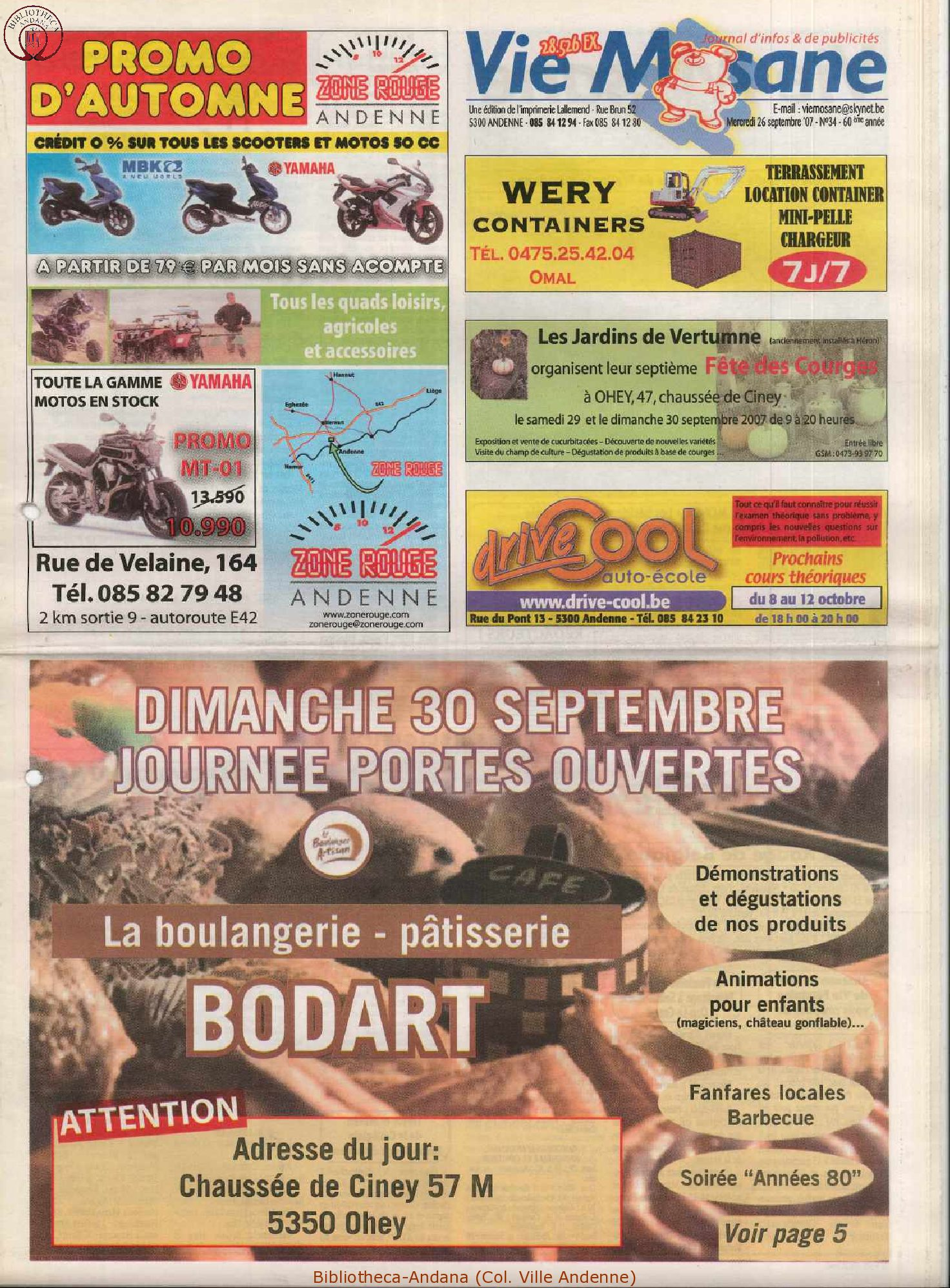 60e année - n°34 - 26 septembre 2007
