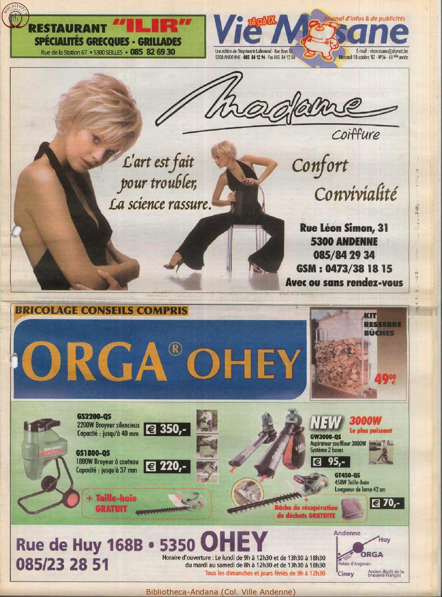 60e année - n°36 - 10 octobre 2007