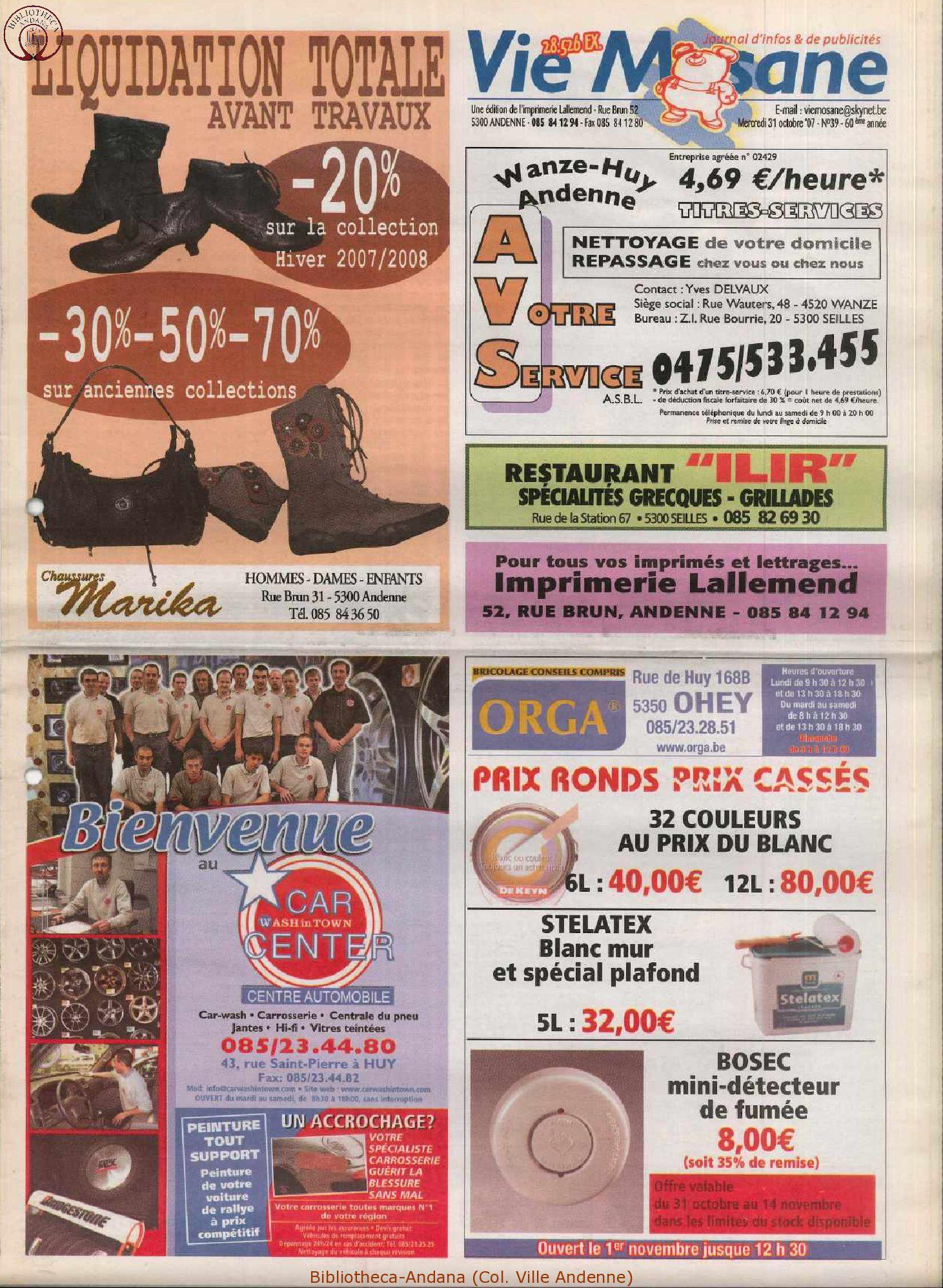 60e année - n°39 - 31 octobre 2007