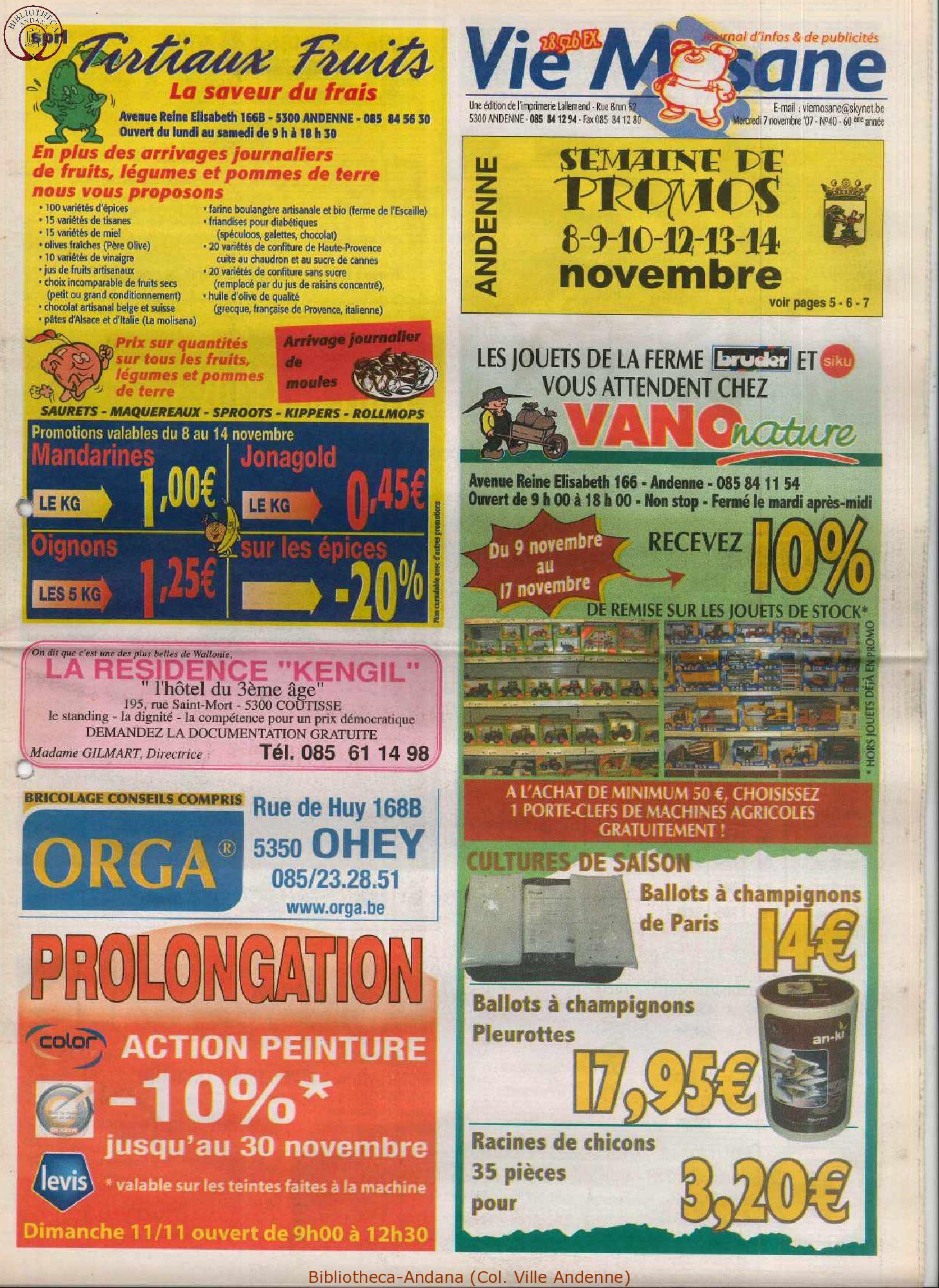 60e année - n°40 - 7 novembre 2007