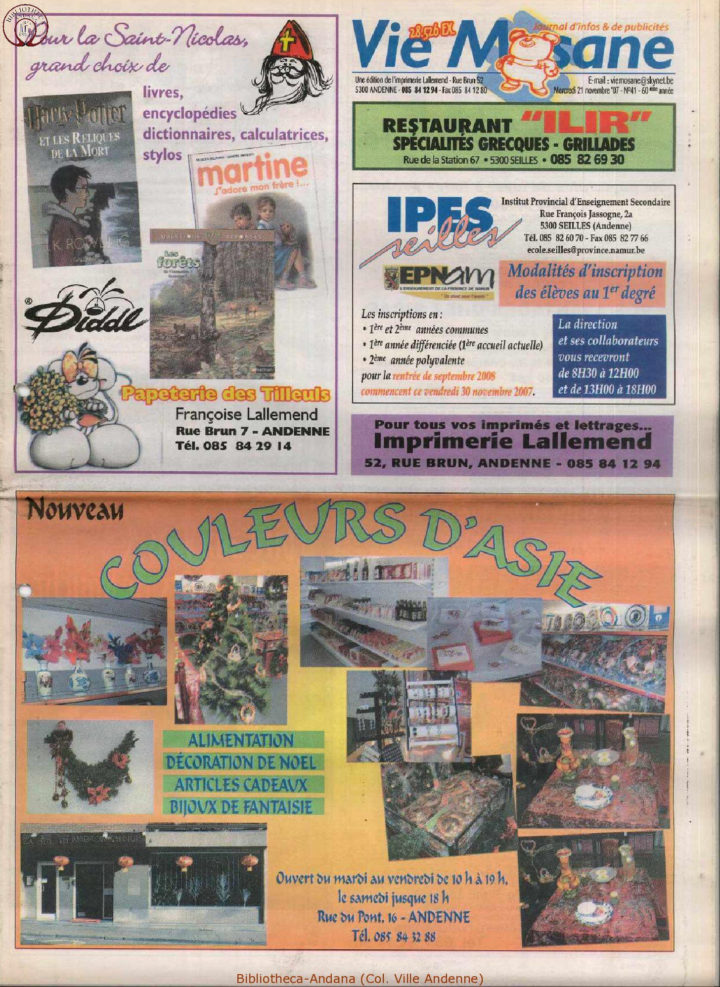 60e année - n°41 - 21 novembre 2007
