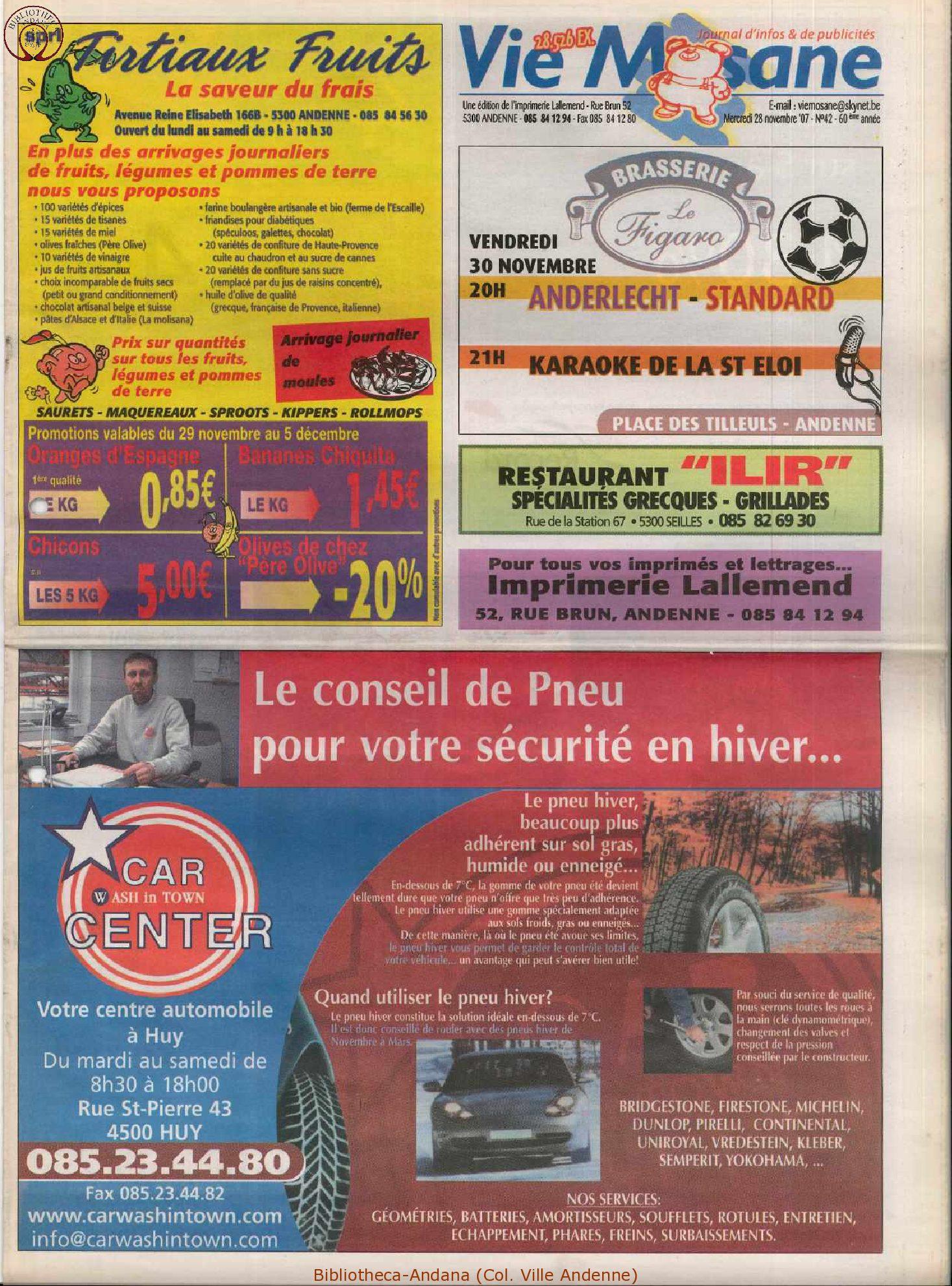 60e année - n°42 - 28 novembre 2007