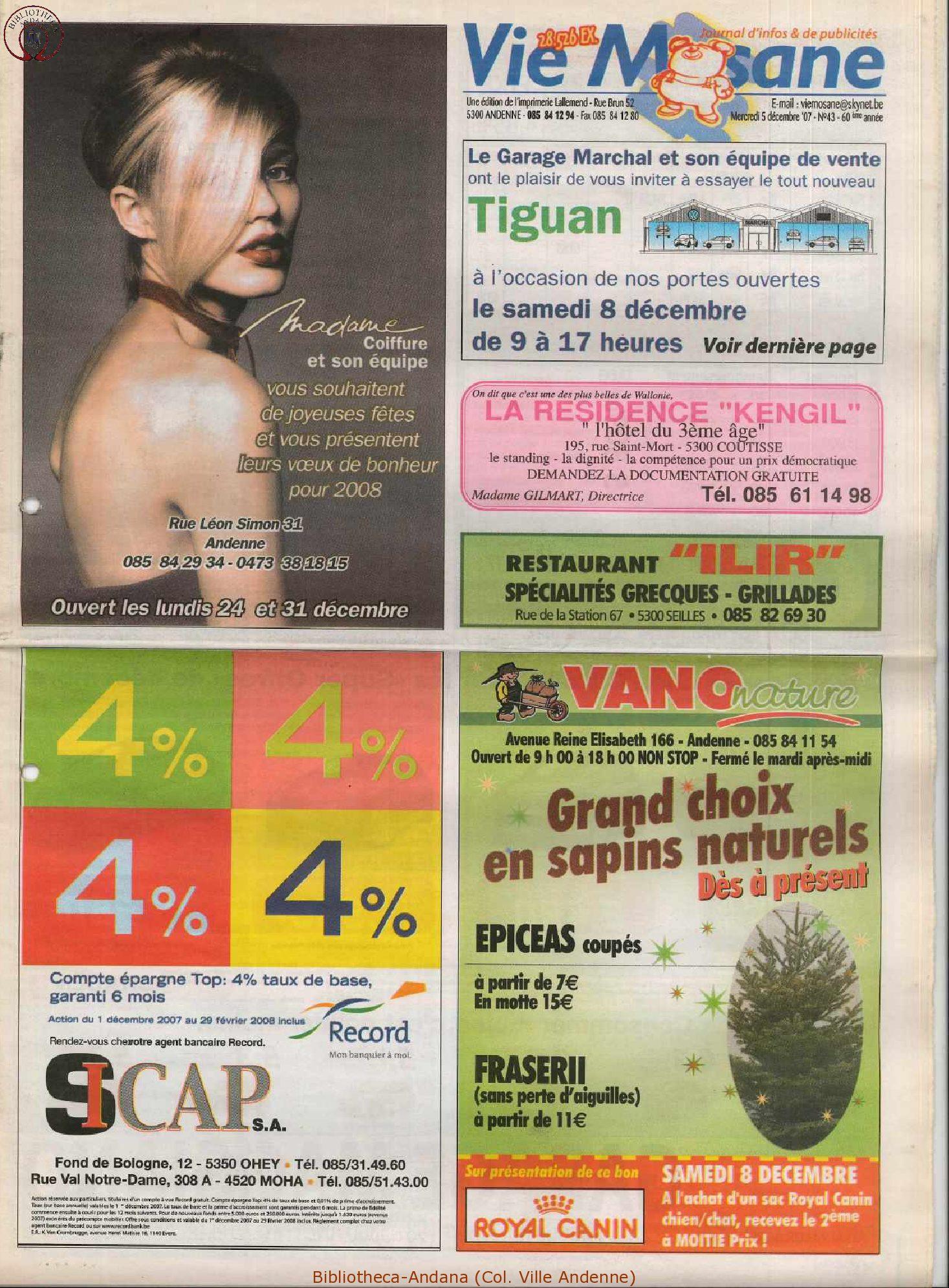 60e année - n°43 - 5 décembre 2007