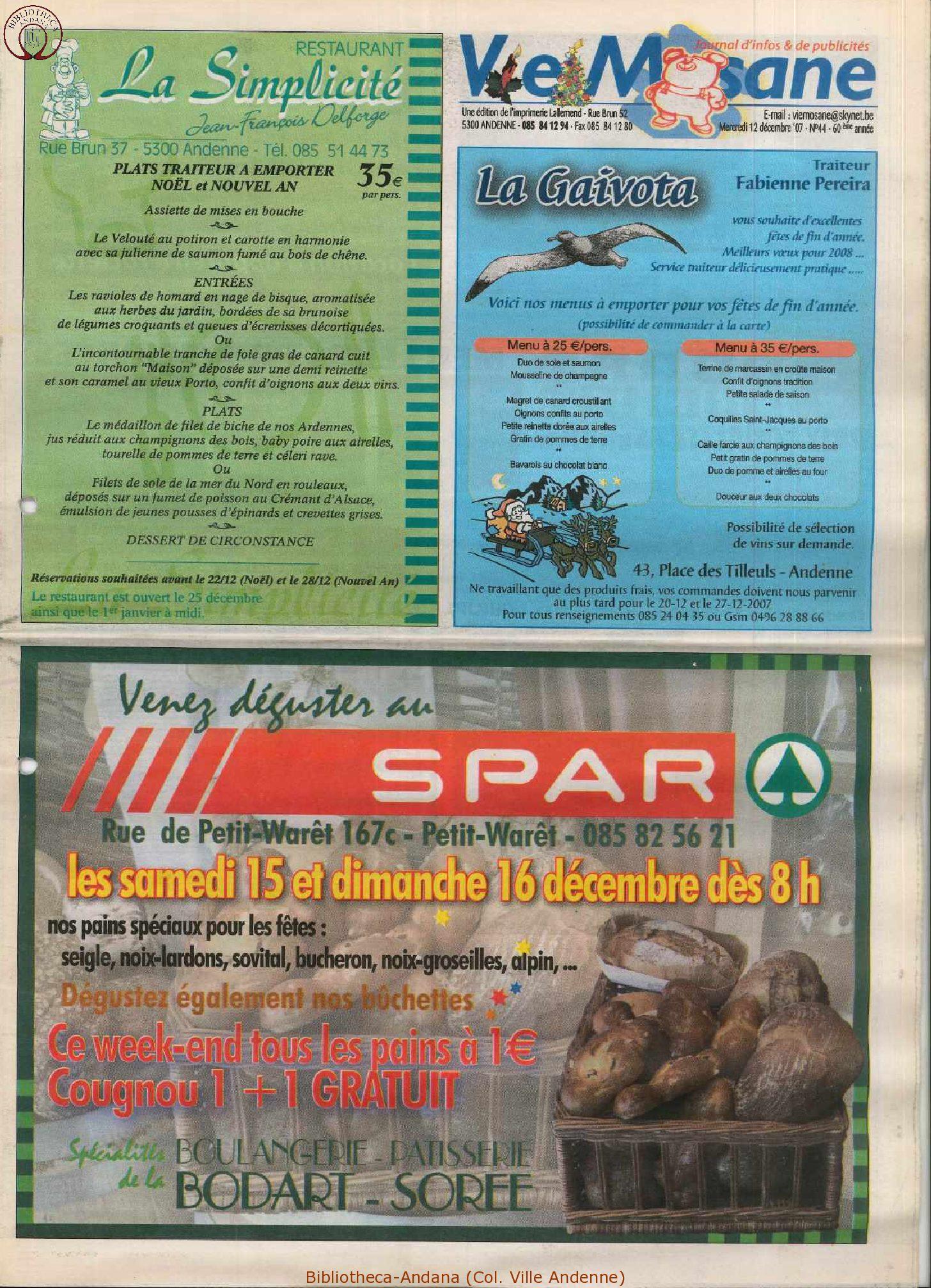 60e année - n°44 - 12 décembre 2007