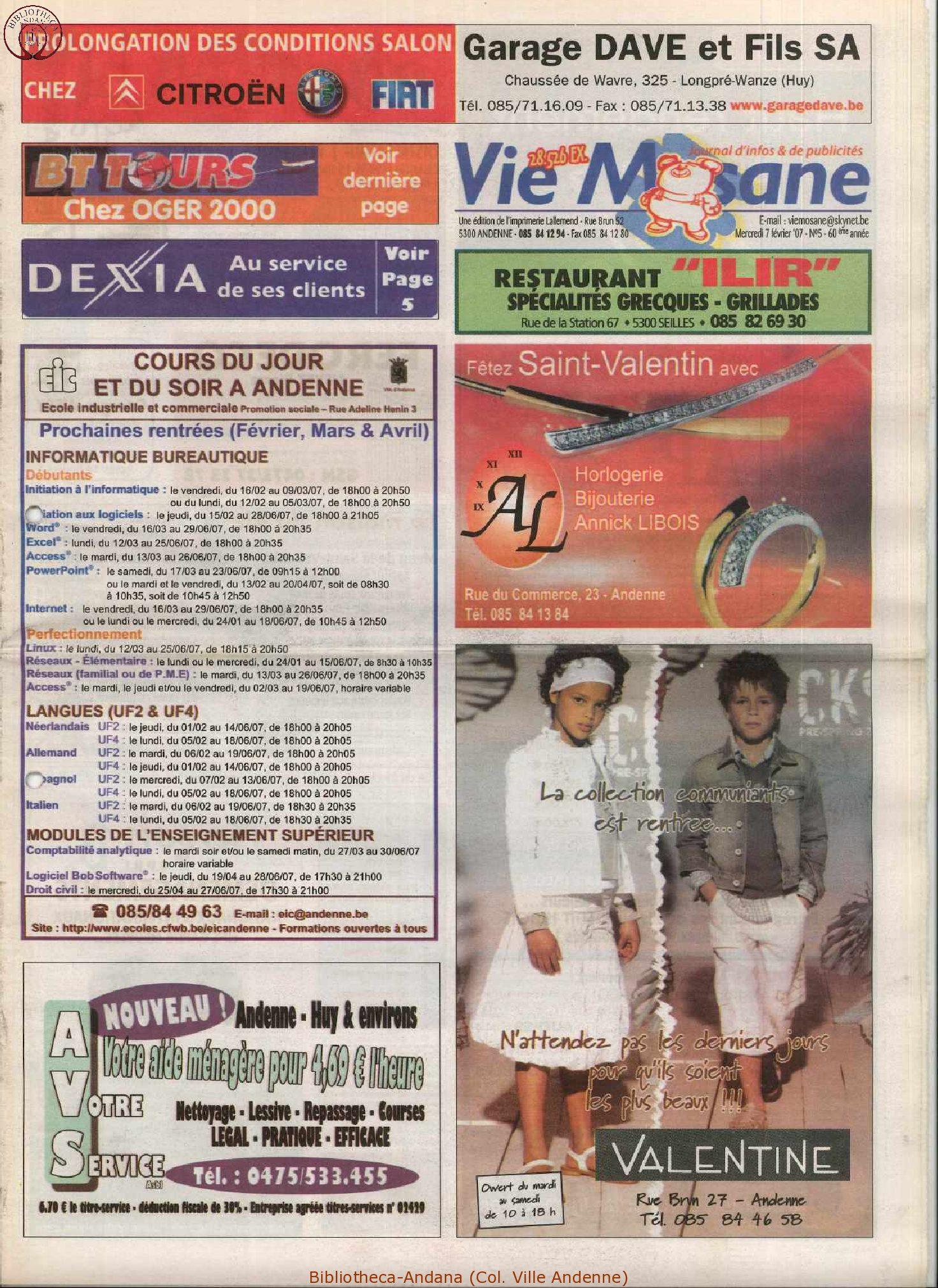 60e année - n°5 - 7 février 2007