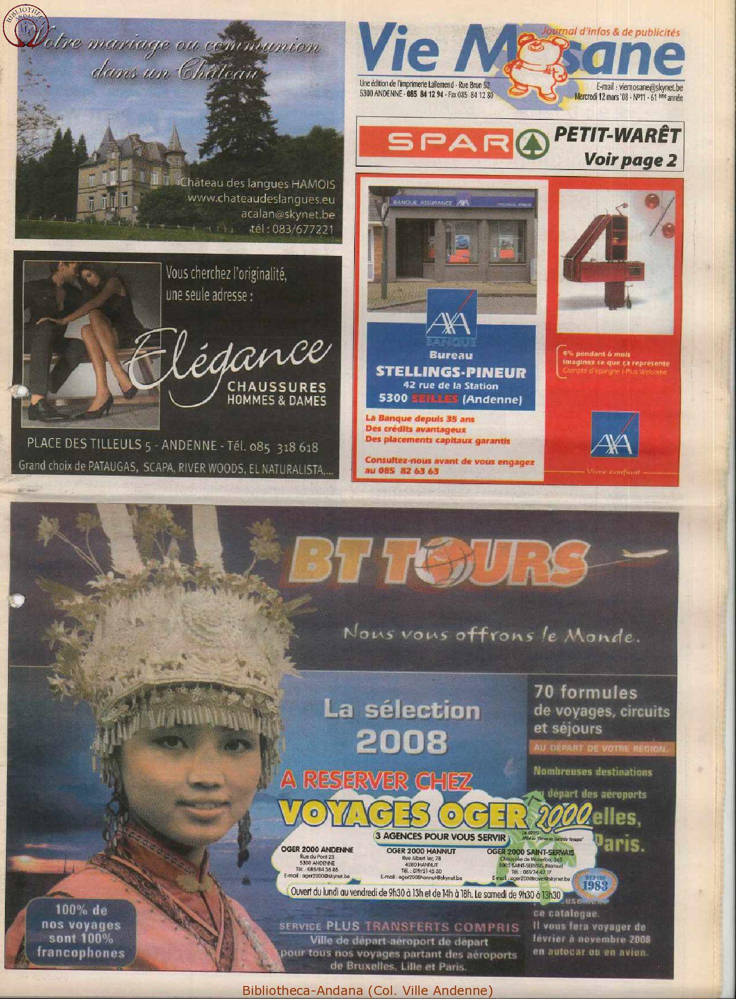 61e année - n°11 - 12 mars 2008