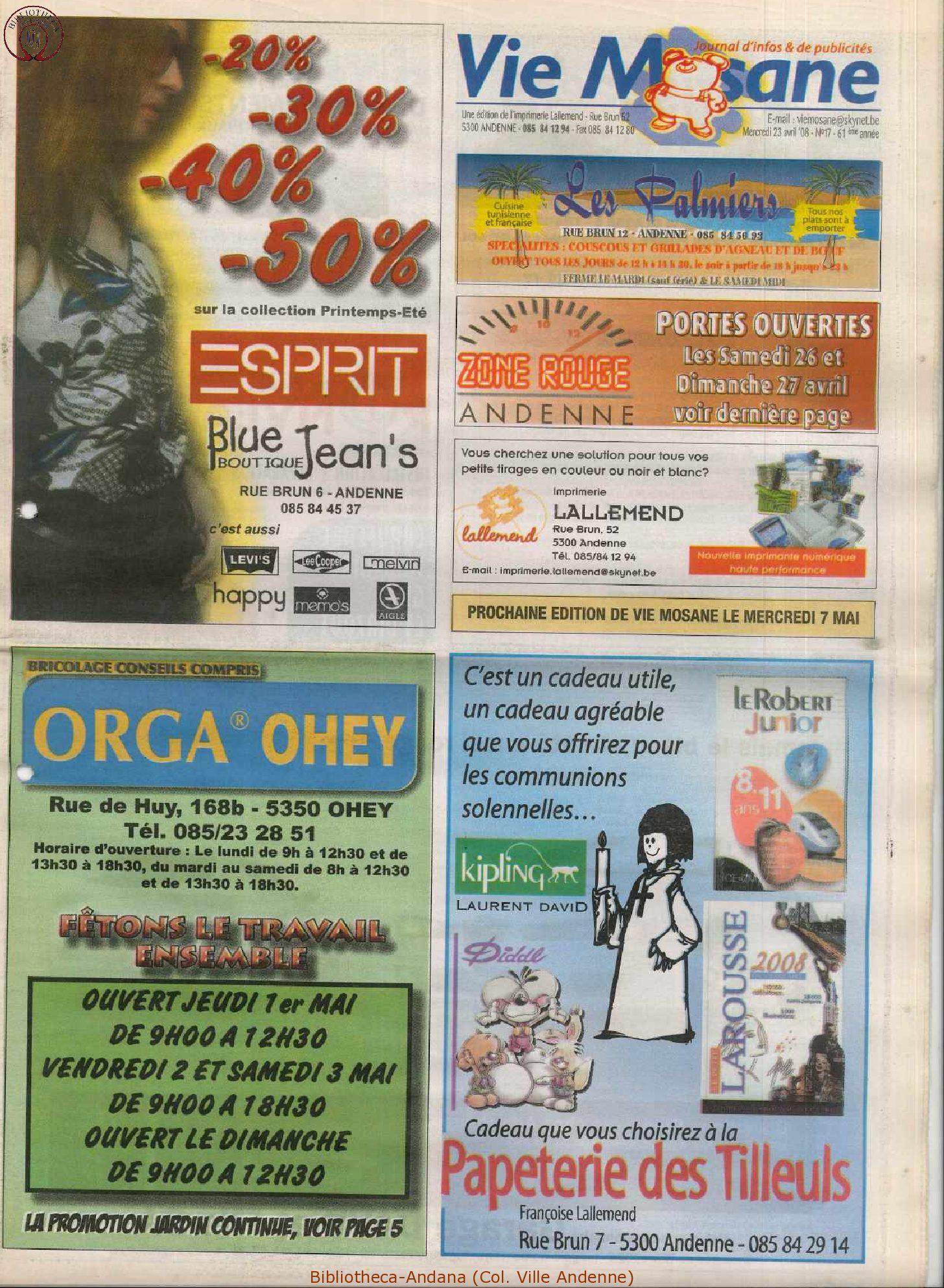 61e année - n°17 - 23 avril 2008