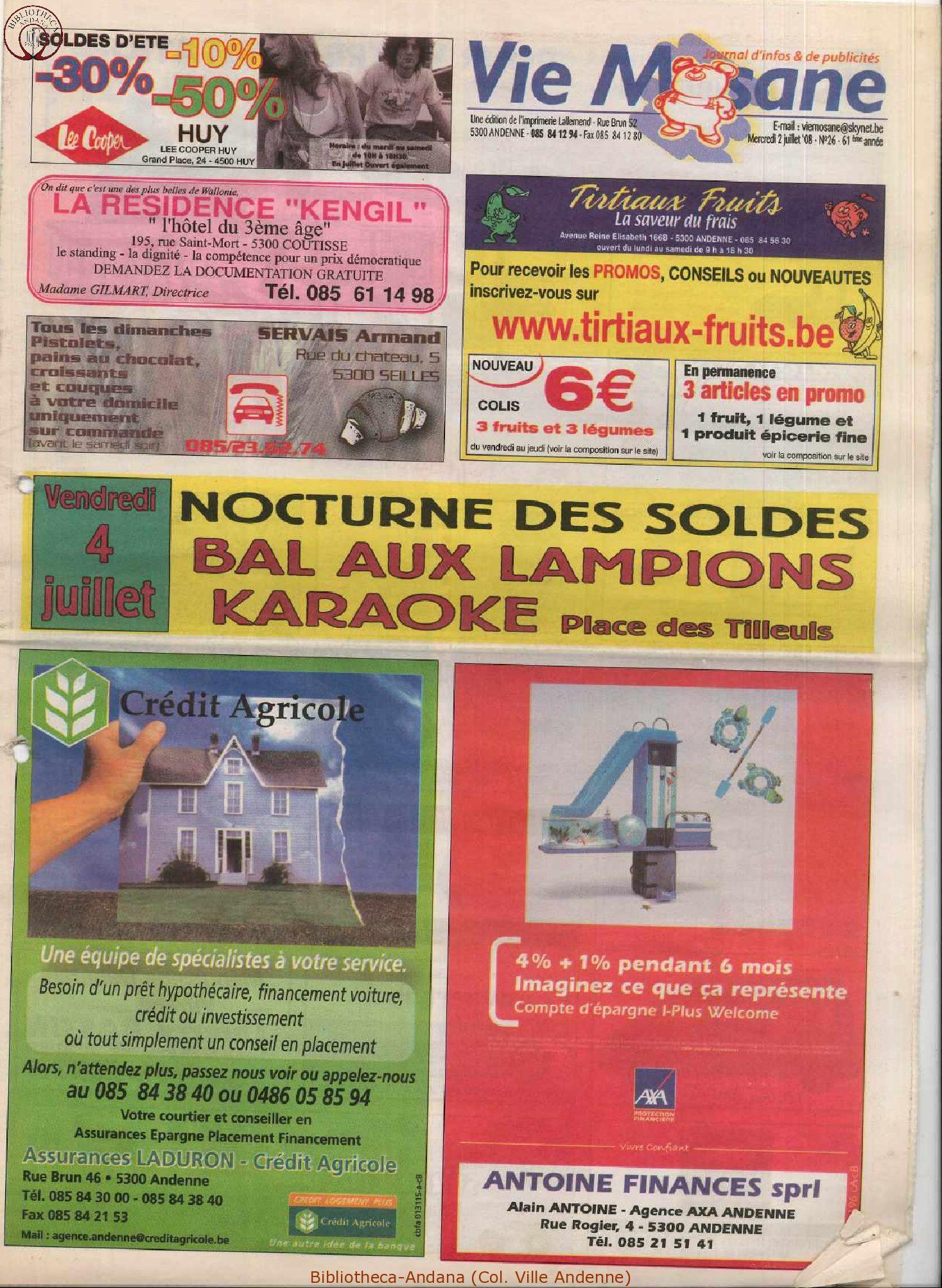 61e année - n°26 - 2 juillet 2008