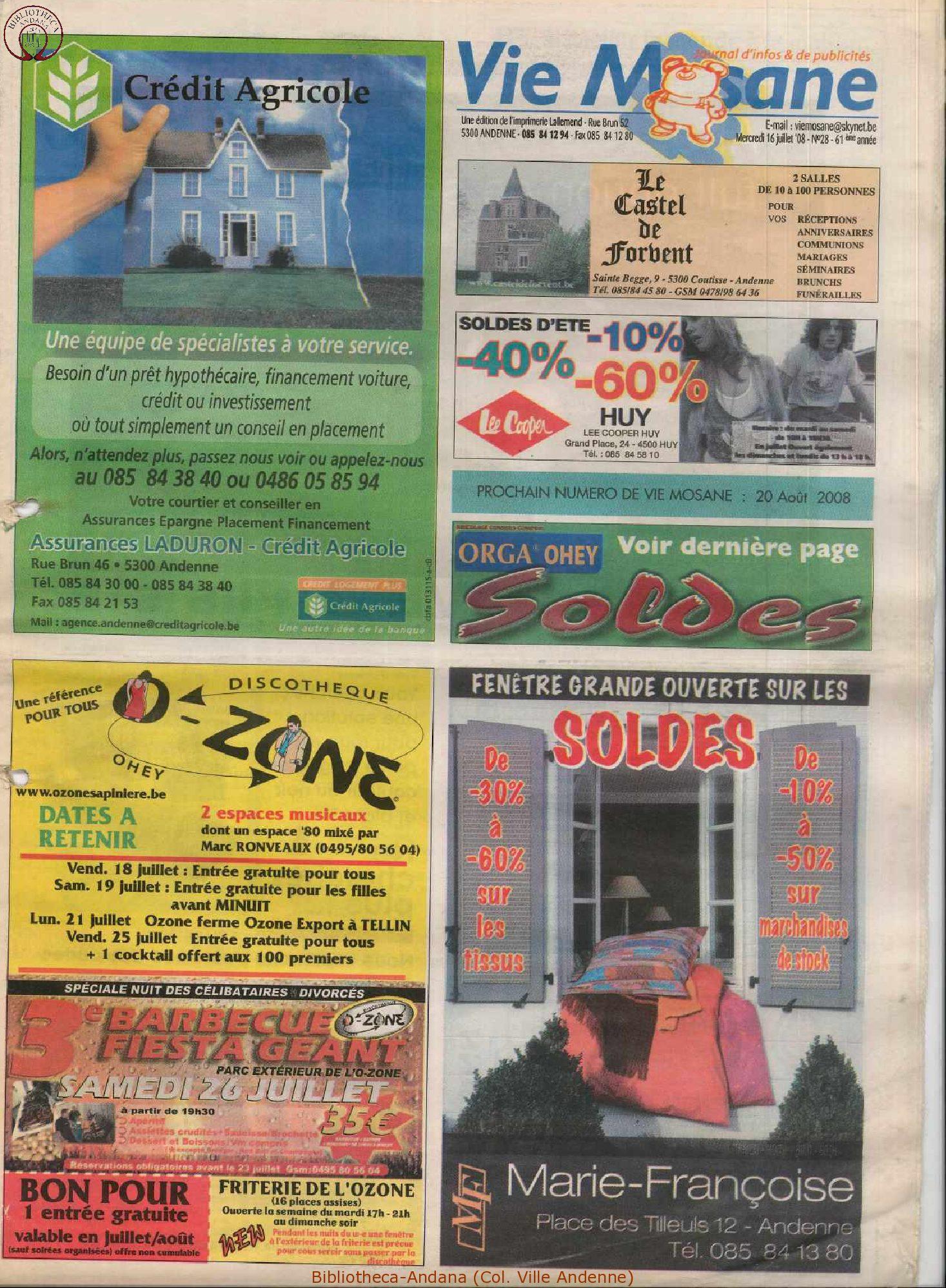 61e année - n°28 - 16 juillet 2008