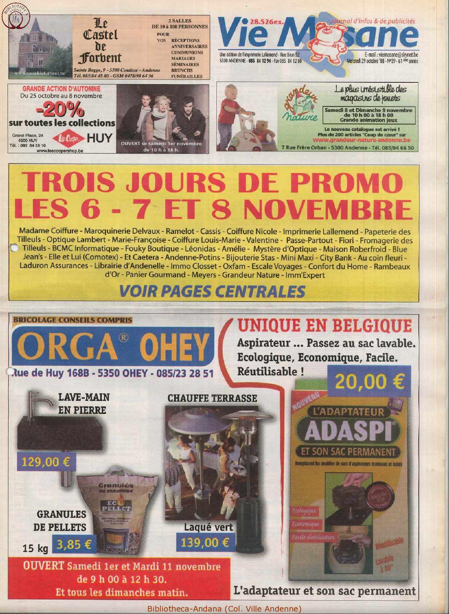 61e année - n°39 - 29 octobre 2008