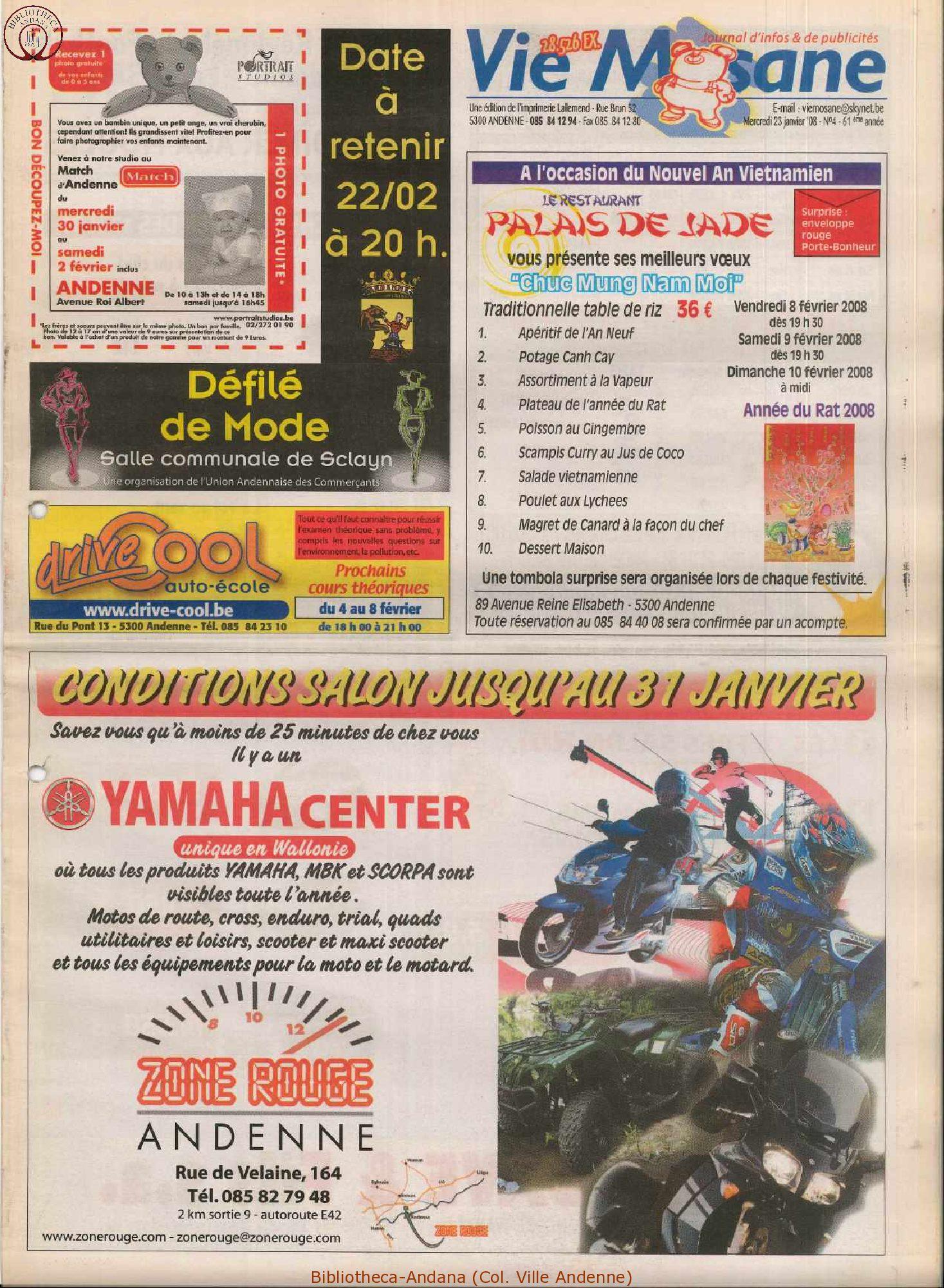 61e année - n°4 - 23 janvier 2008