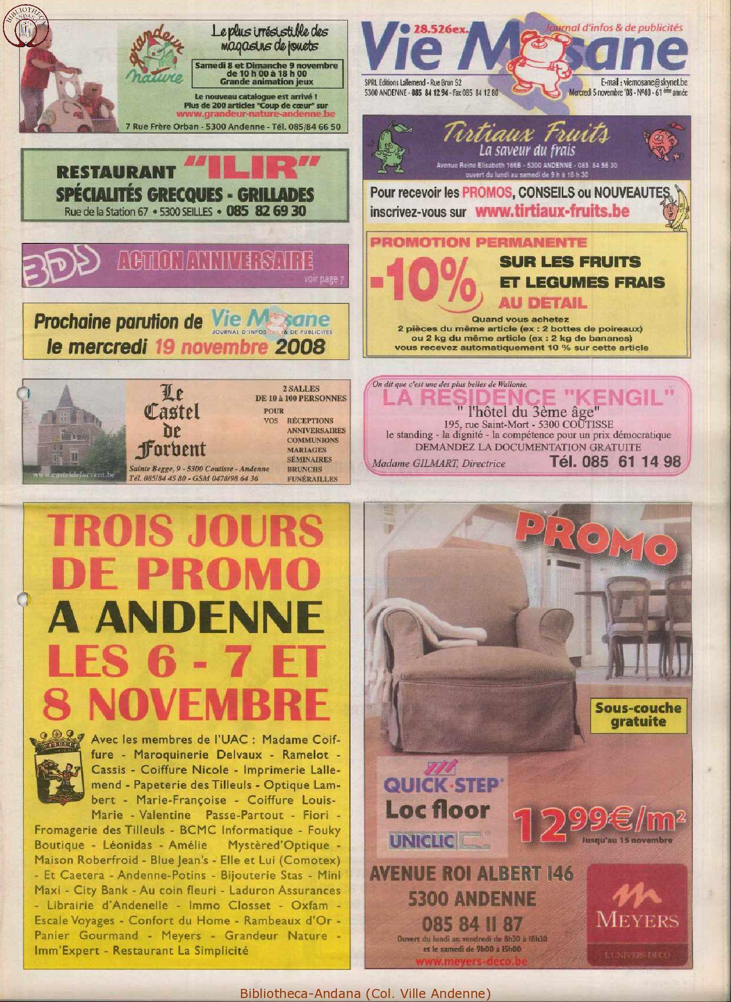 61e année - n°40 - 5 novembre 2008