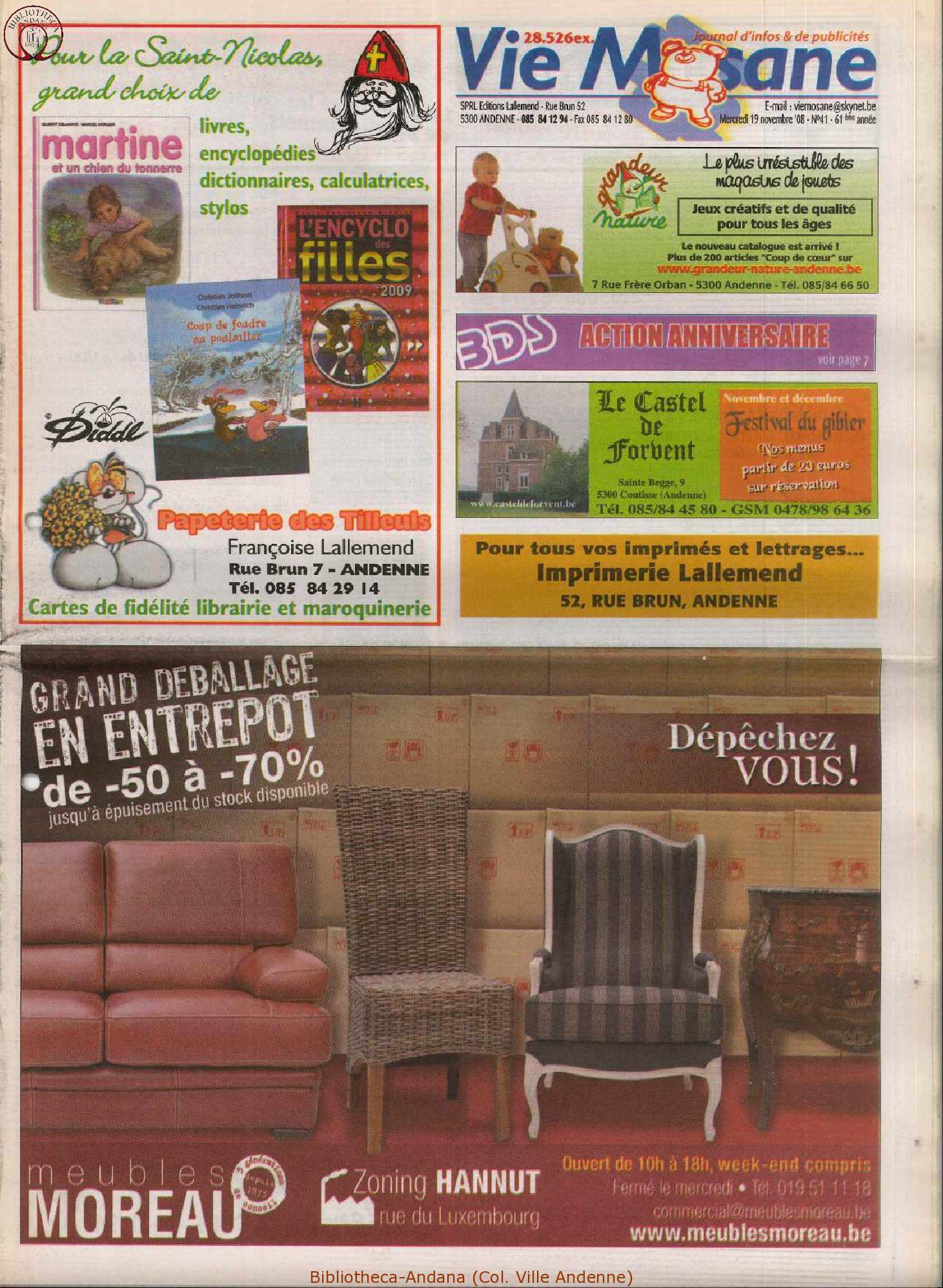 61e année - n°41 - 19 novembre 2008