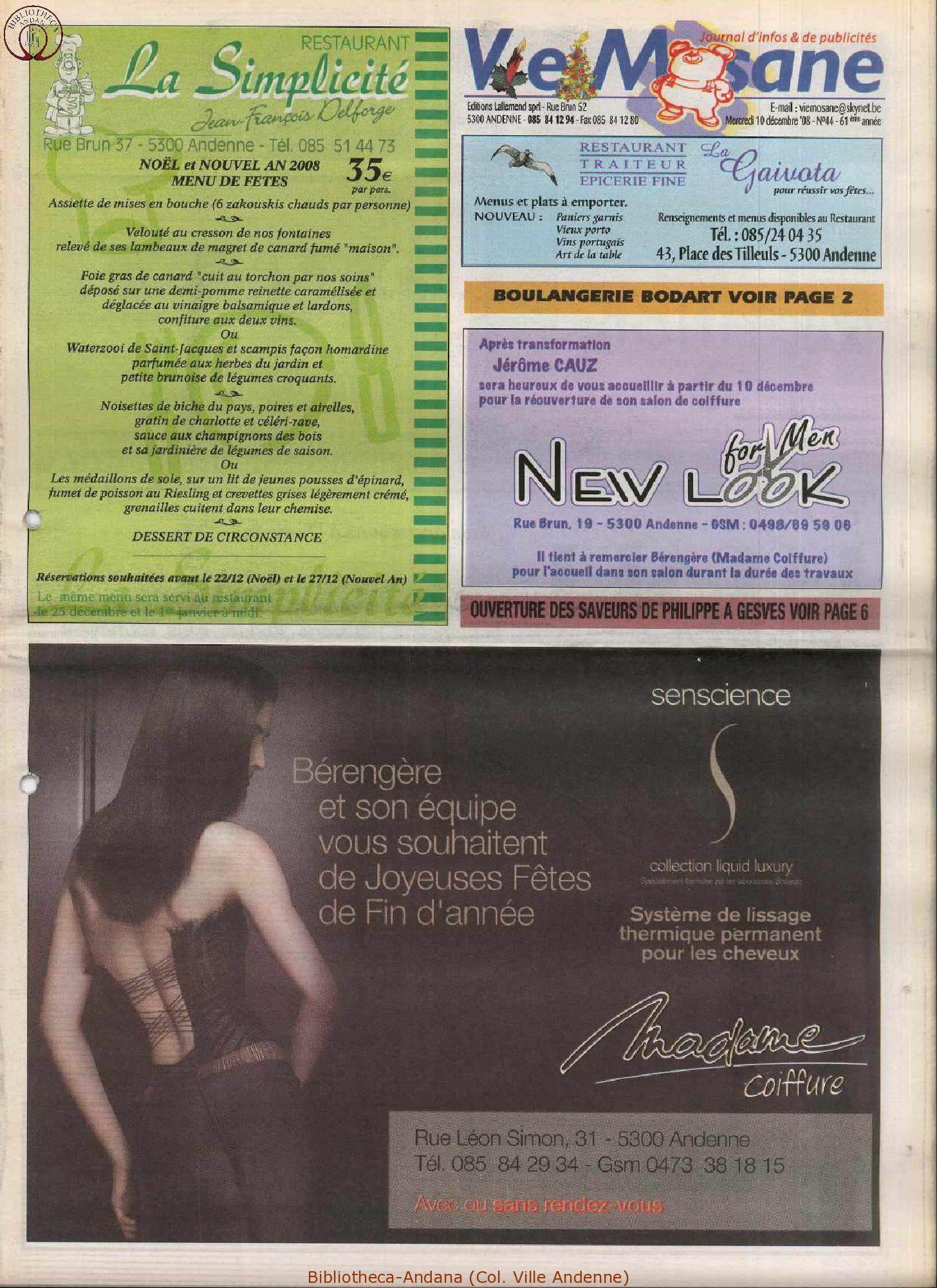 61e année - n°44 - 10 décembre 2008
