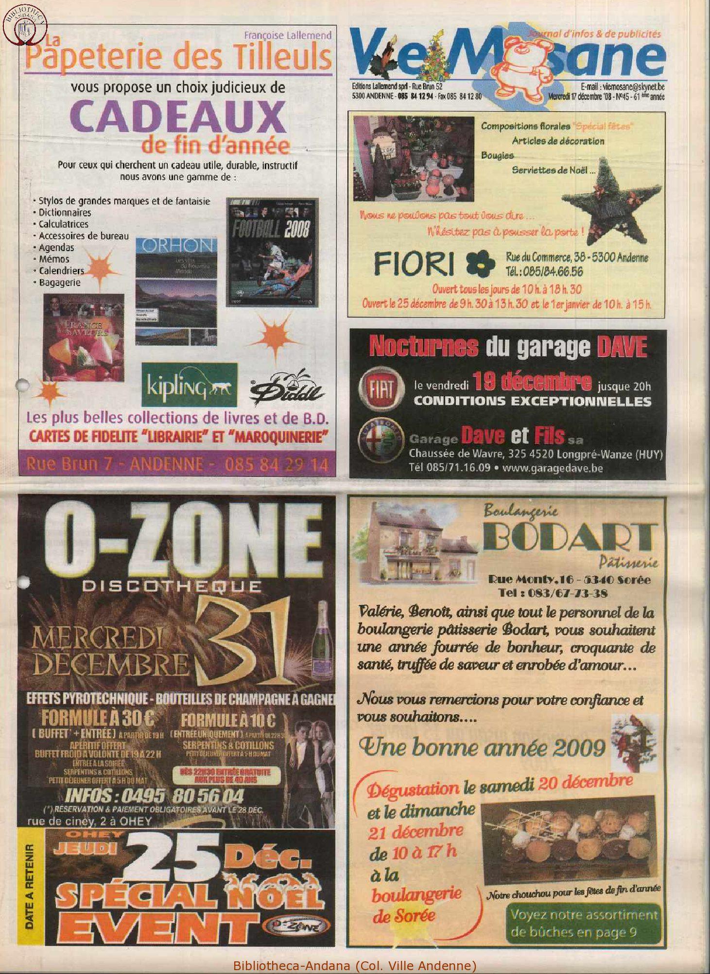 61e année - n°45 - 17 décembre 2008