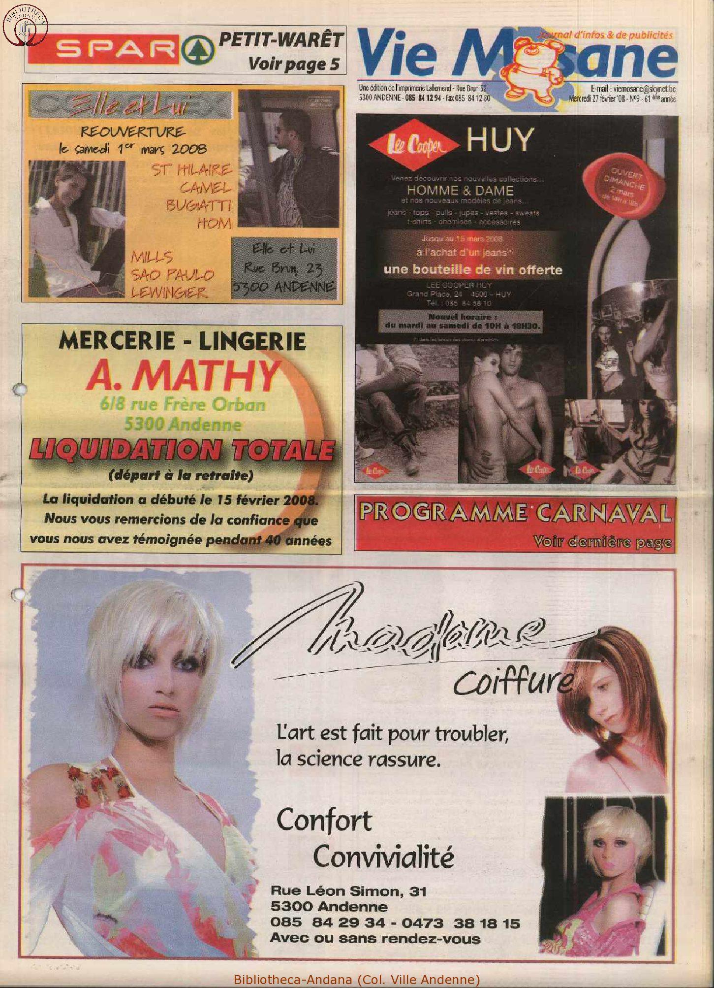 61e année - n°9 - 27 février 2008
