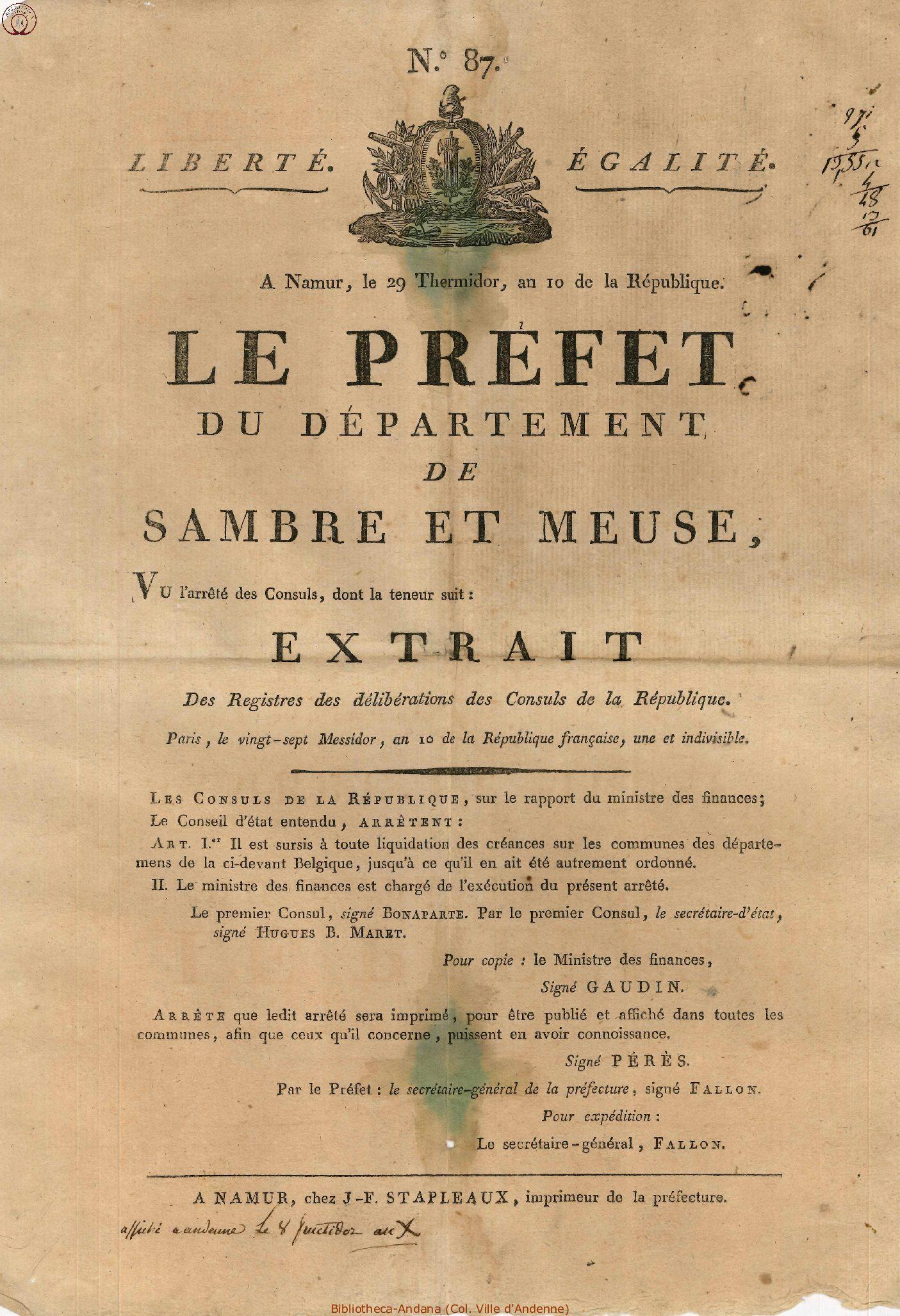 1802-08-26 (8 fructidor 10)