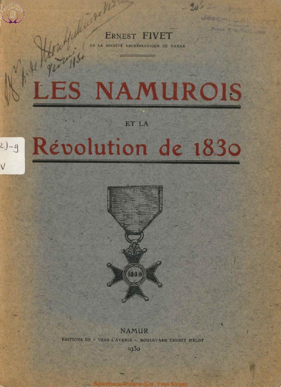 Les Namurois et la Révolution de 1830
